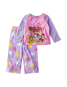 Licensed Purple Multi Pajama Sets