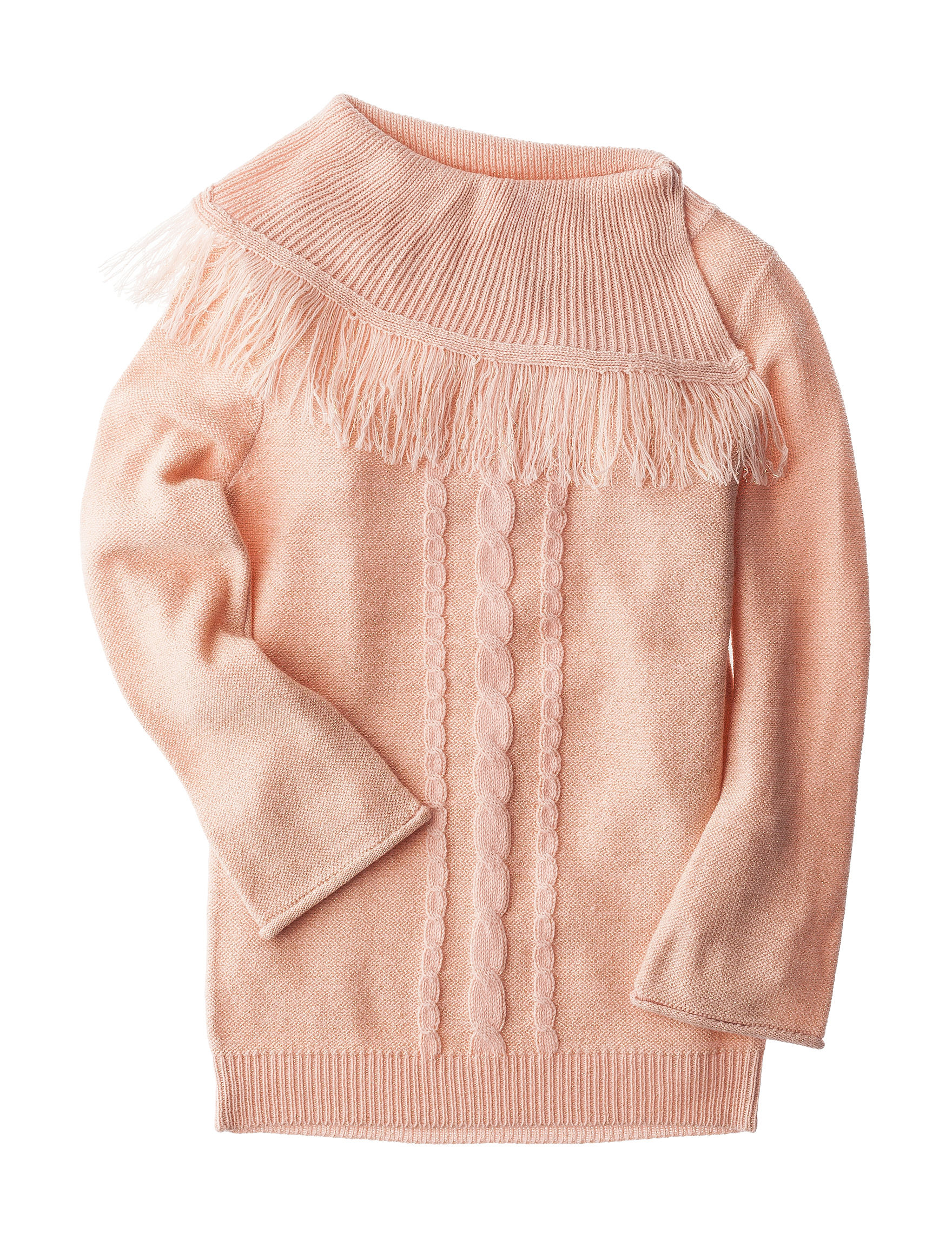 Planet Gold Cable Knit Fringe Sweater - Girls 7-16 | Stage Stores