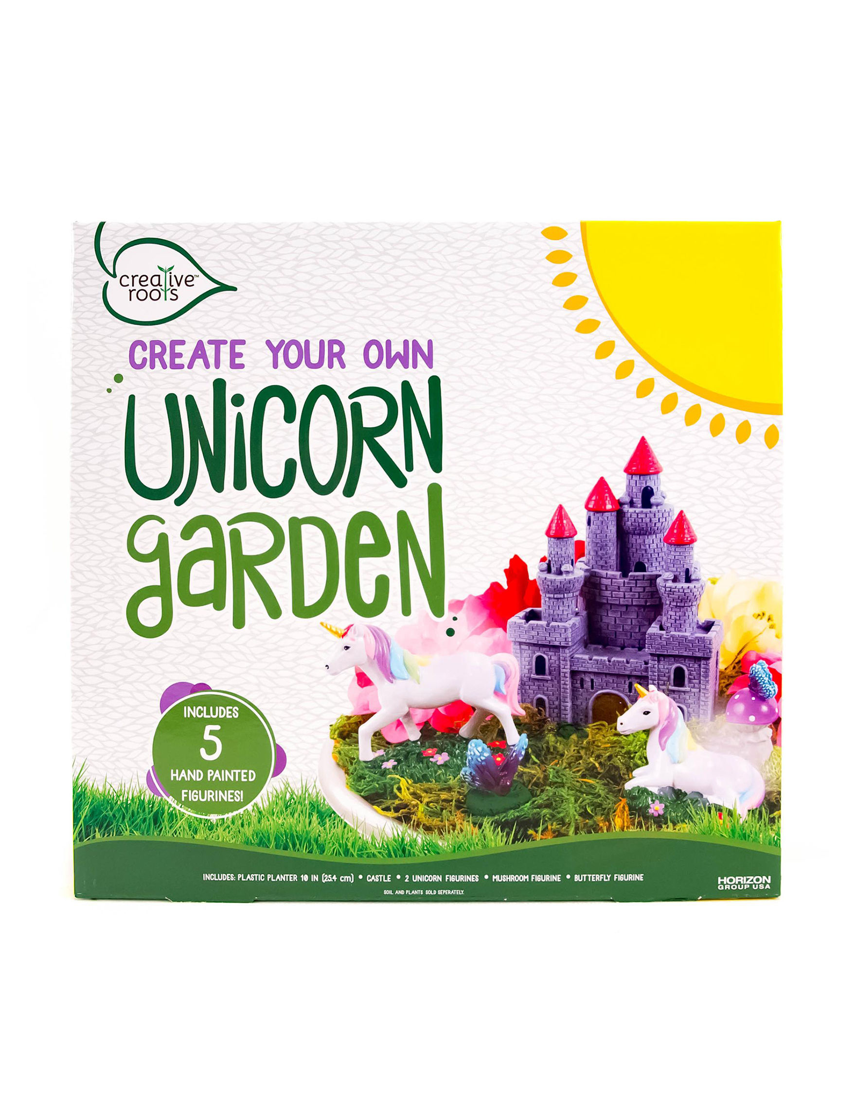 Creative roots create your own unicorn garden stage stores for Design your own garden