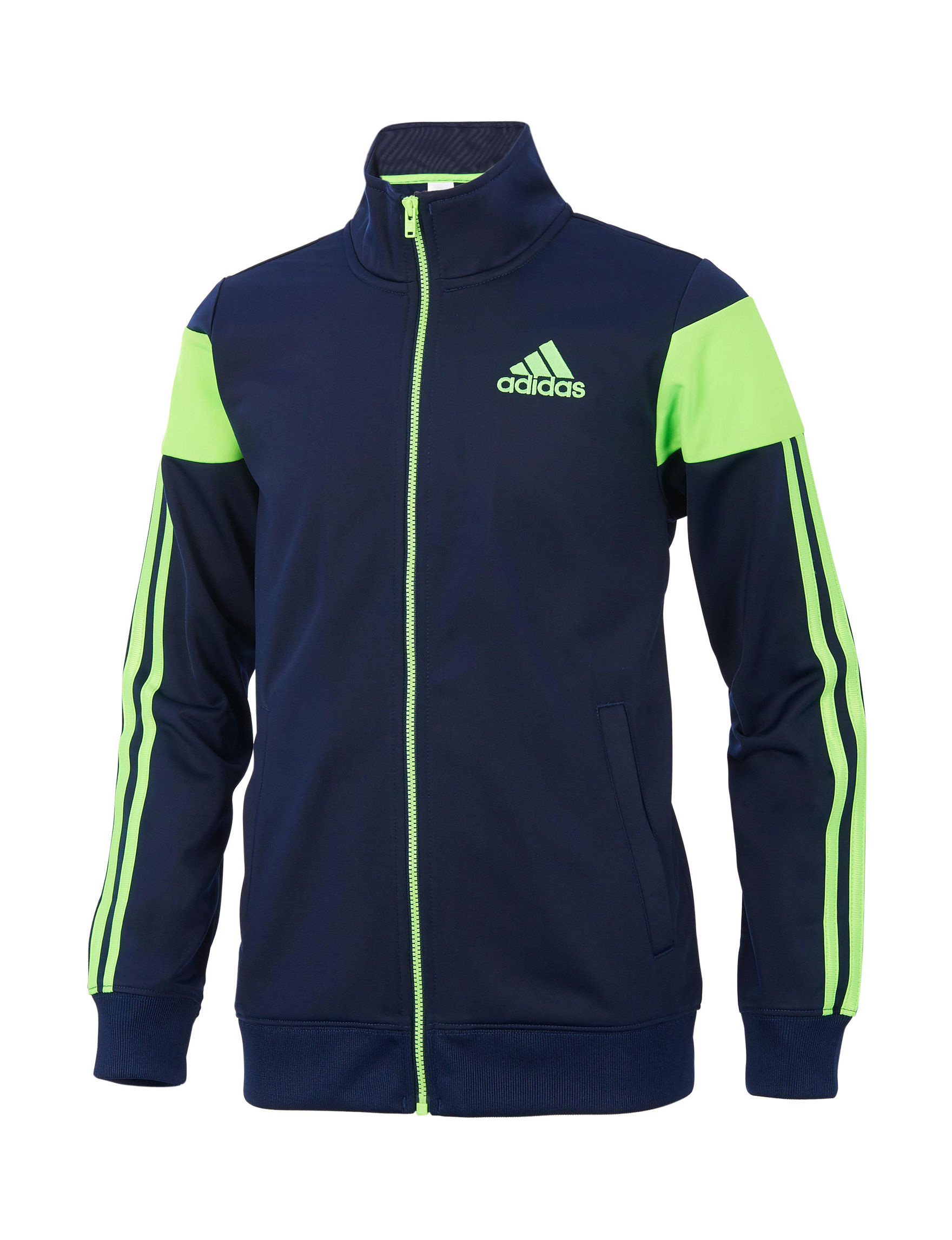 Adidas Blue Fleece & Soft Shell Jackets