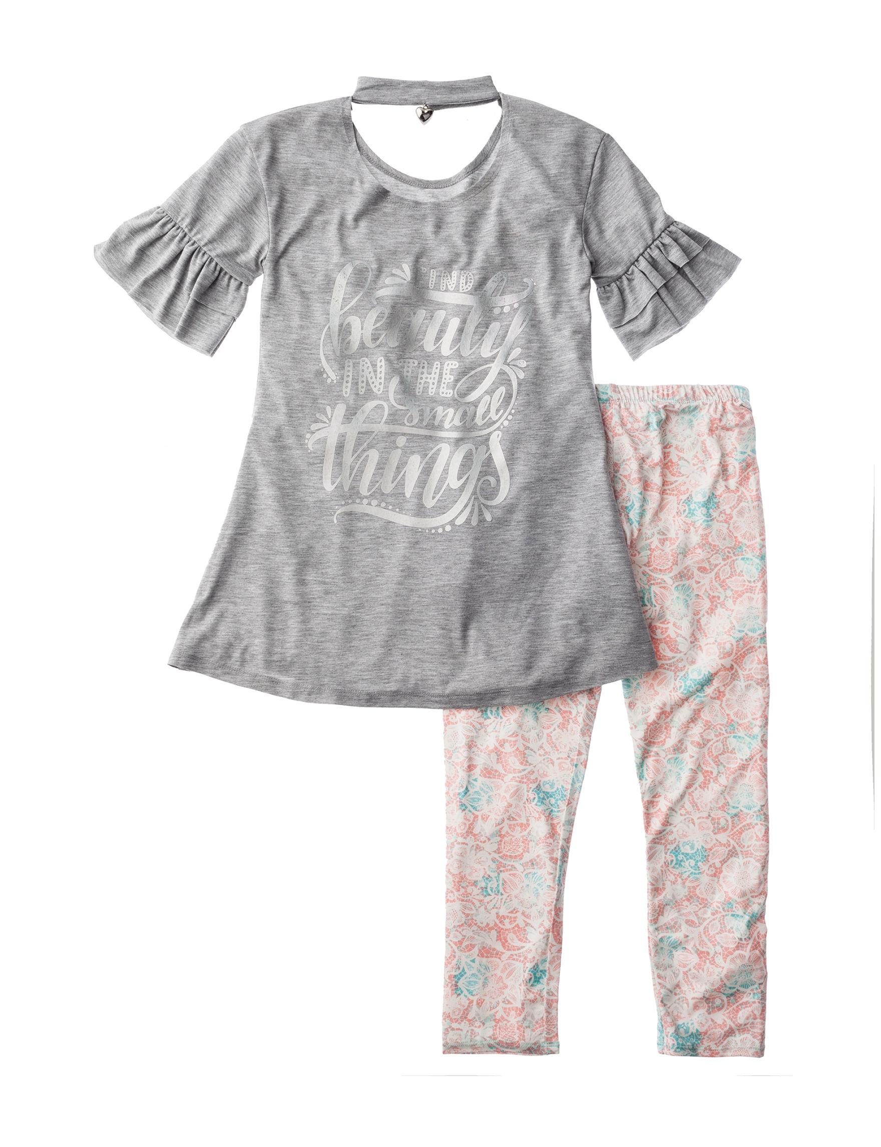 One Step Up Grey / Pink Leggings