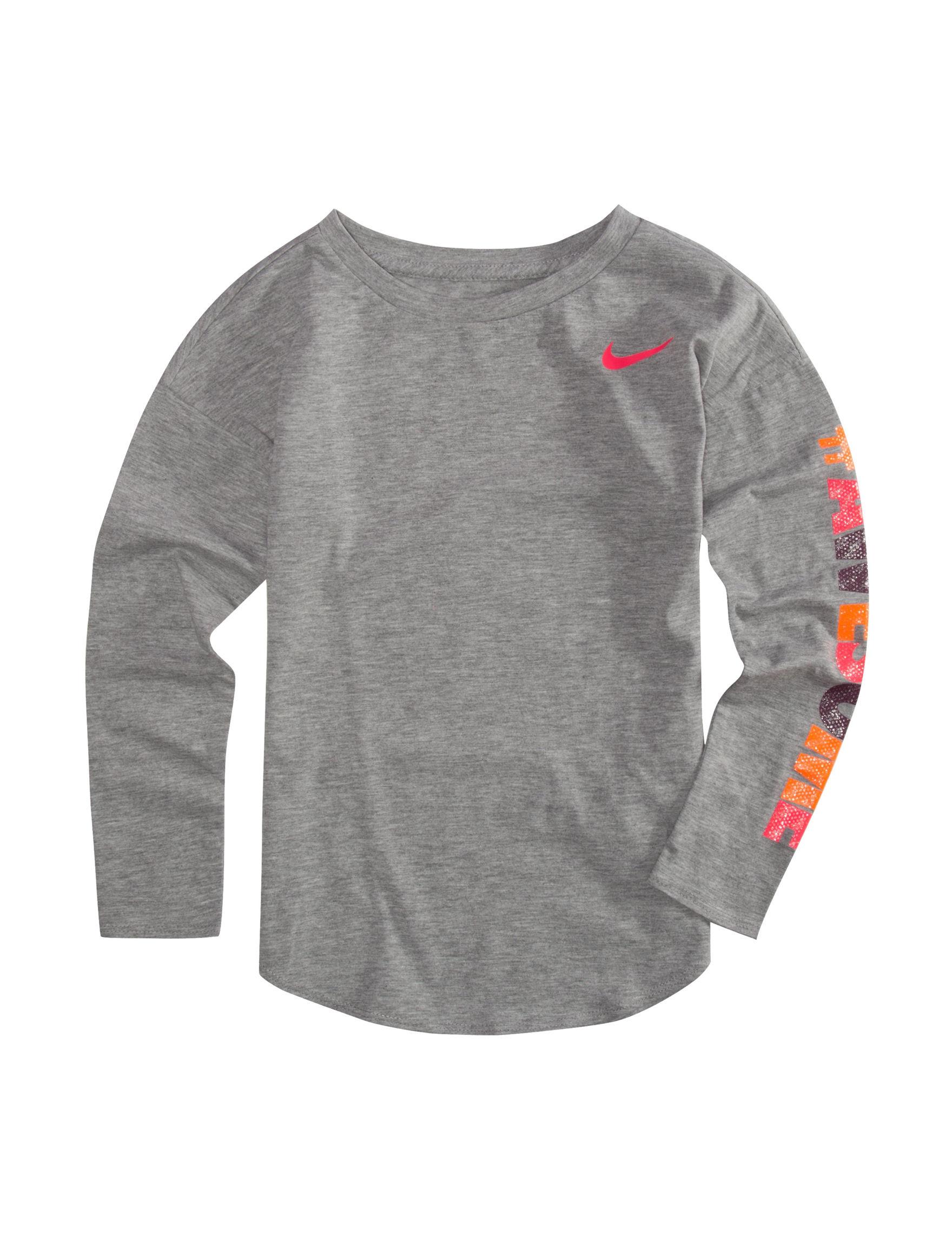 Nike Grey Tees & Tanks