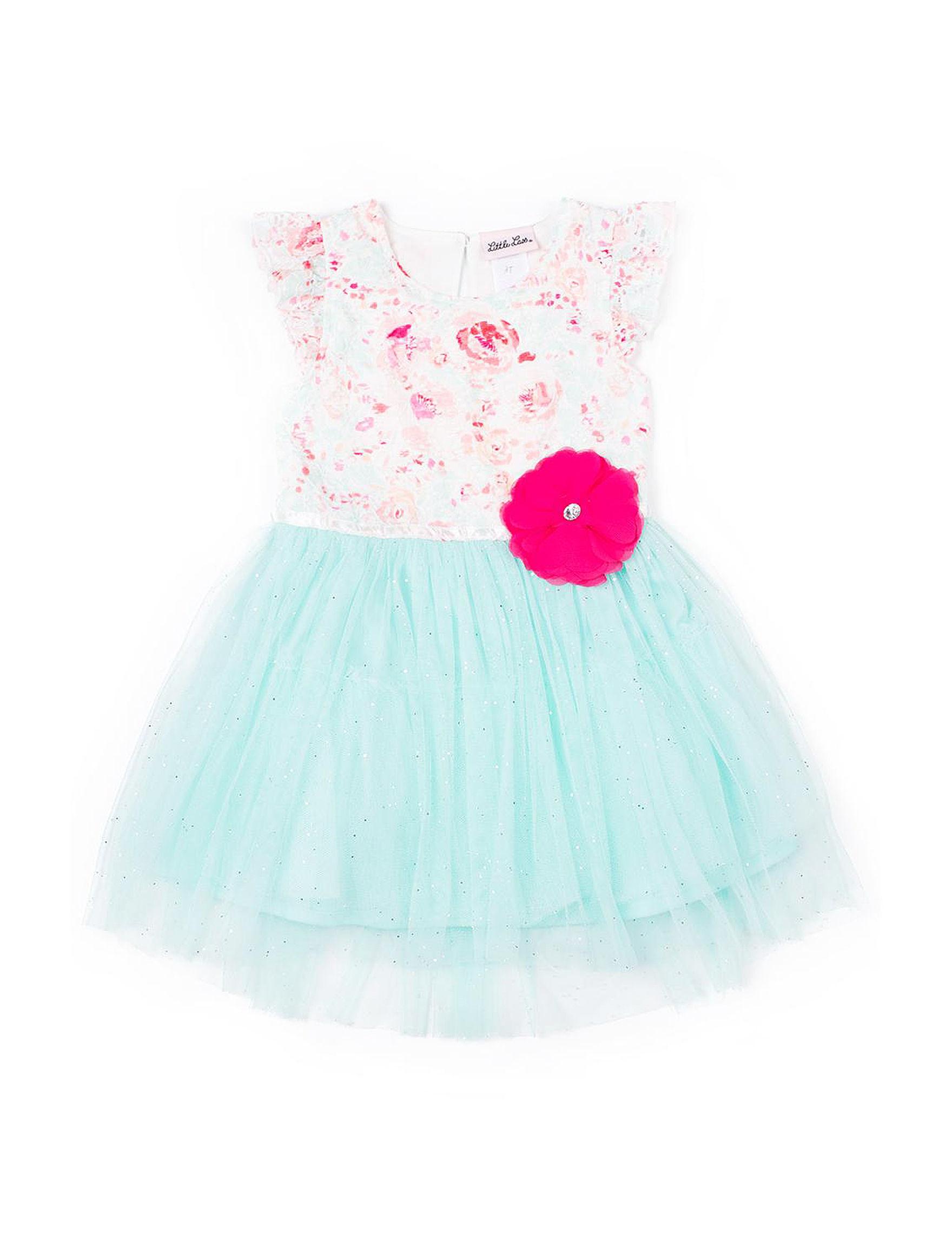 Little Lass White / Turquoise