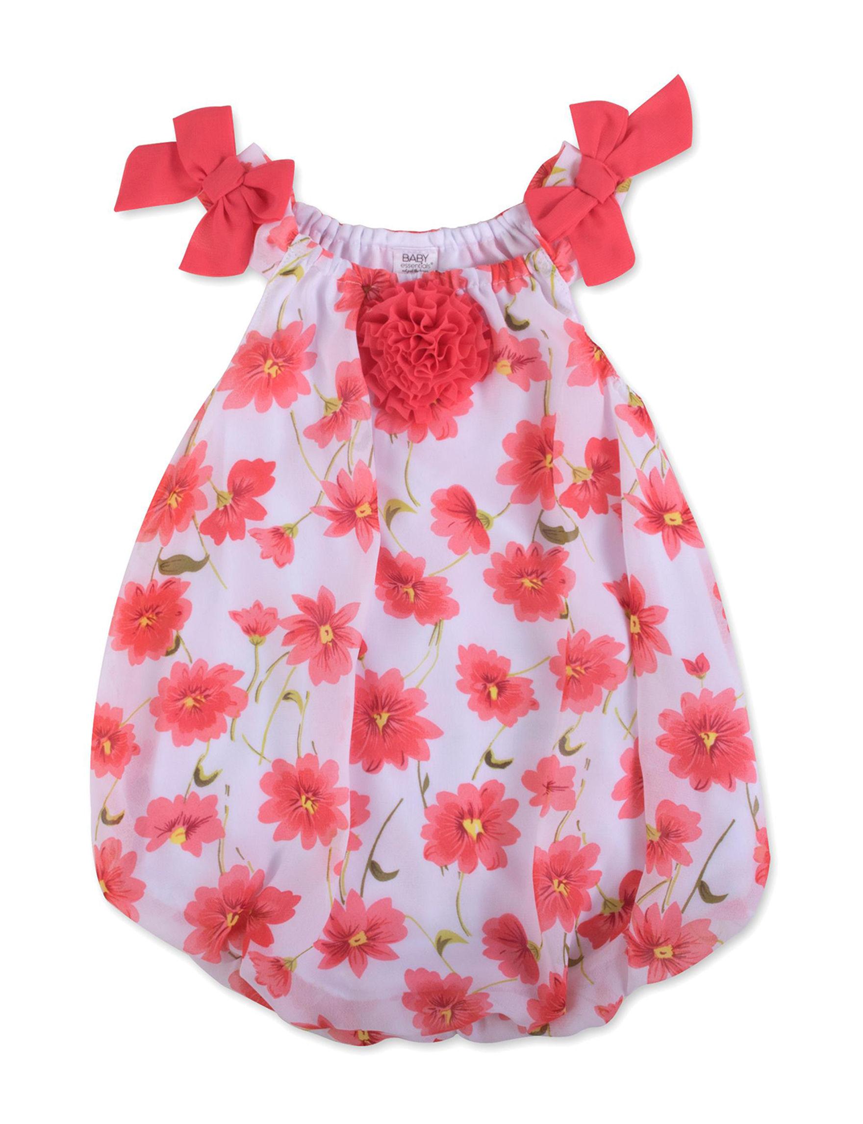Baby Essentials Coral / White