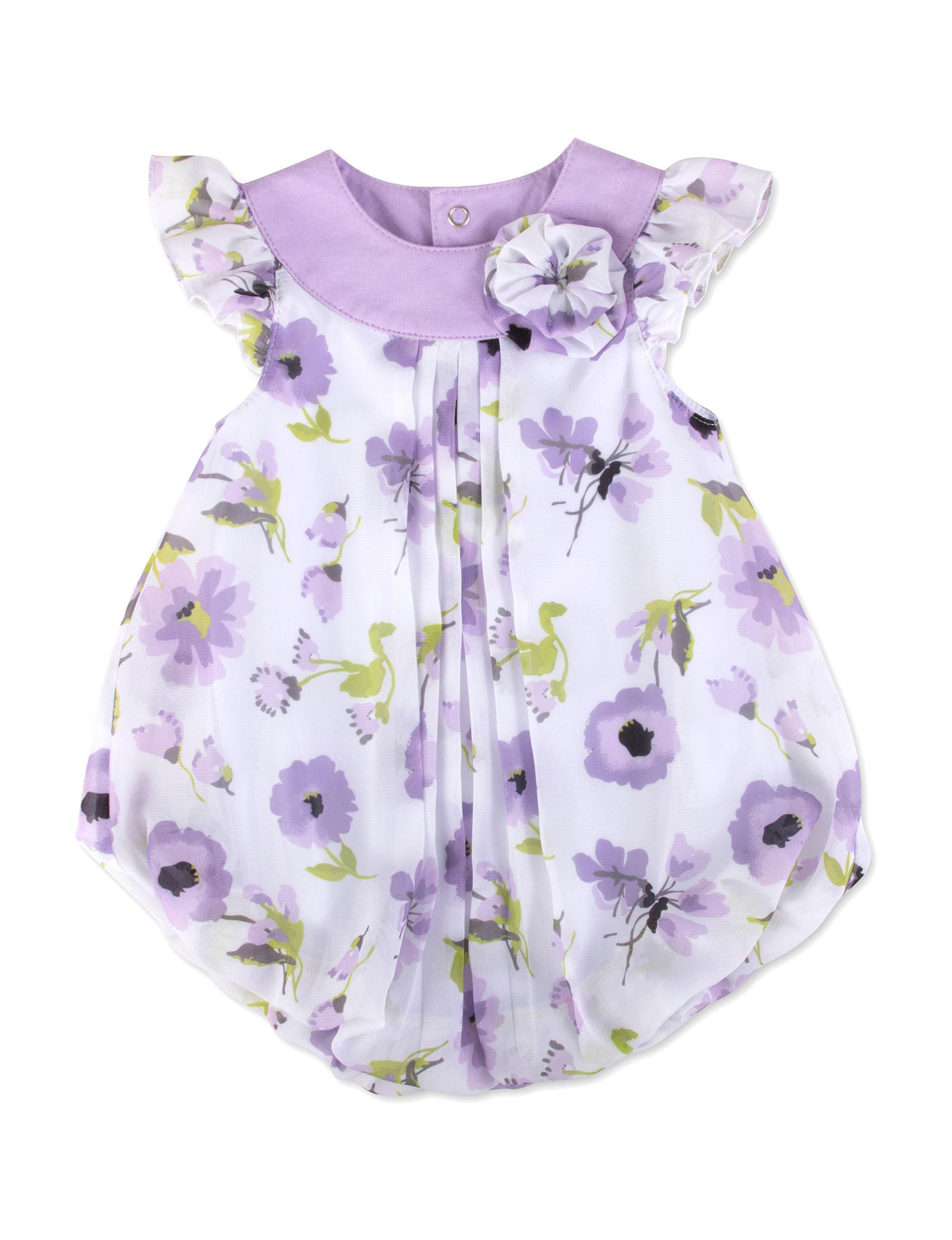 Baby Essentials Purple / White
