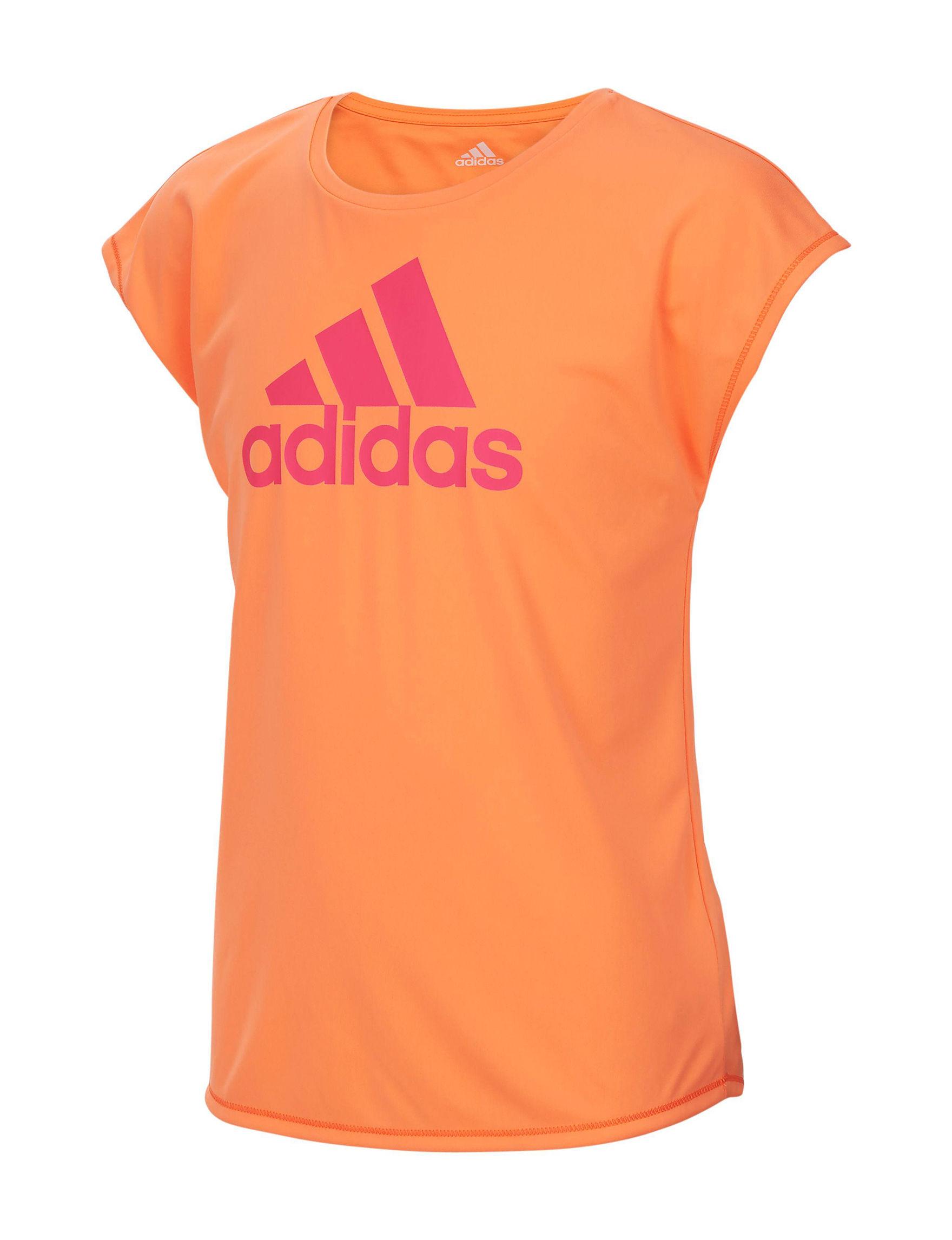 Adidas Orange Tees & Tanks