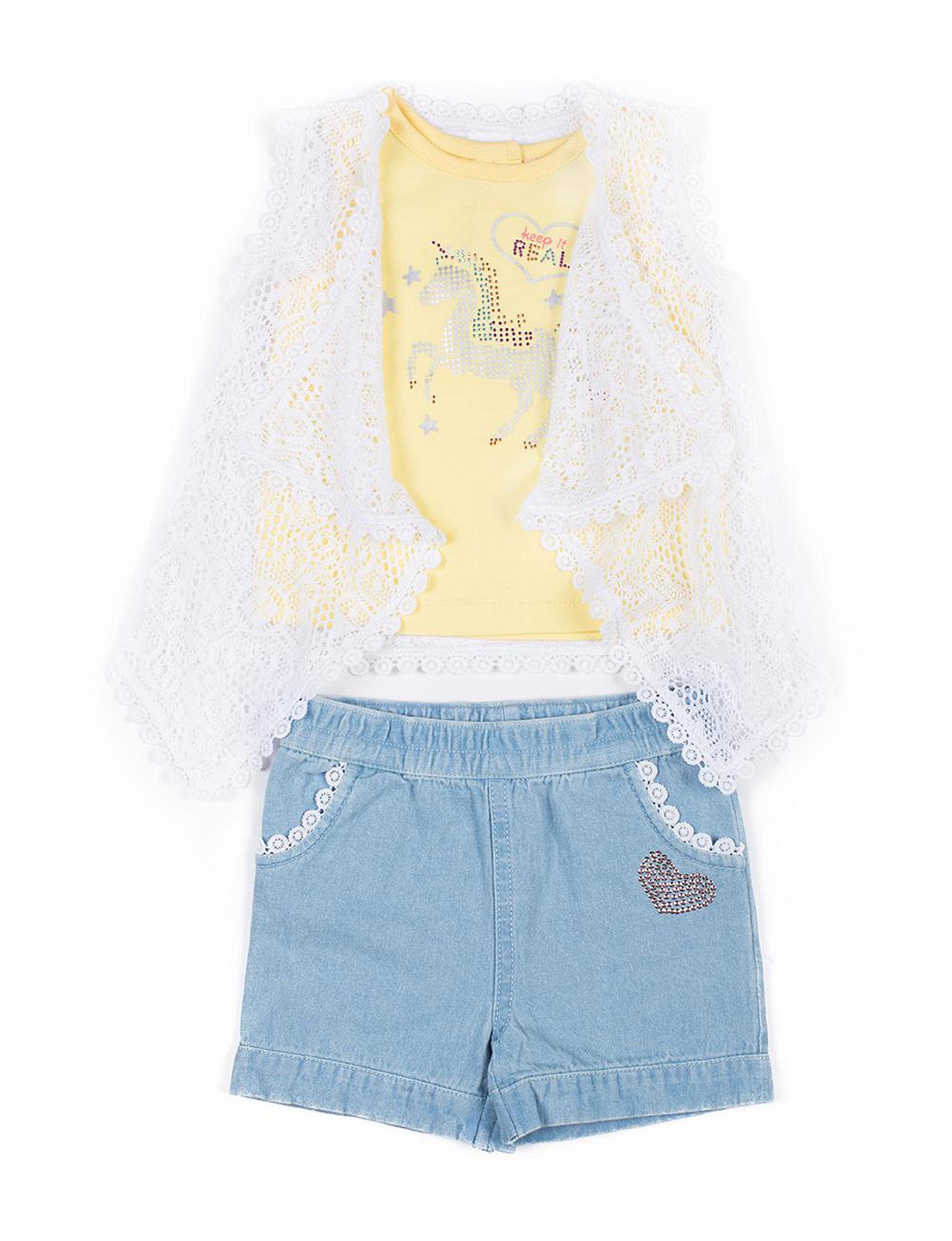 Little Lass Yellow / White