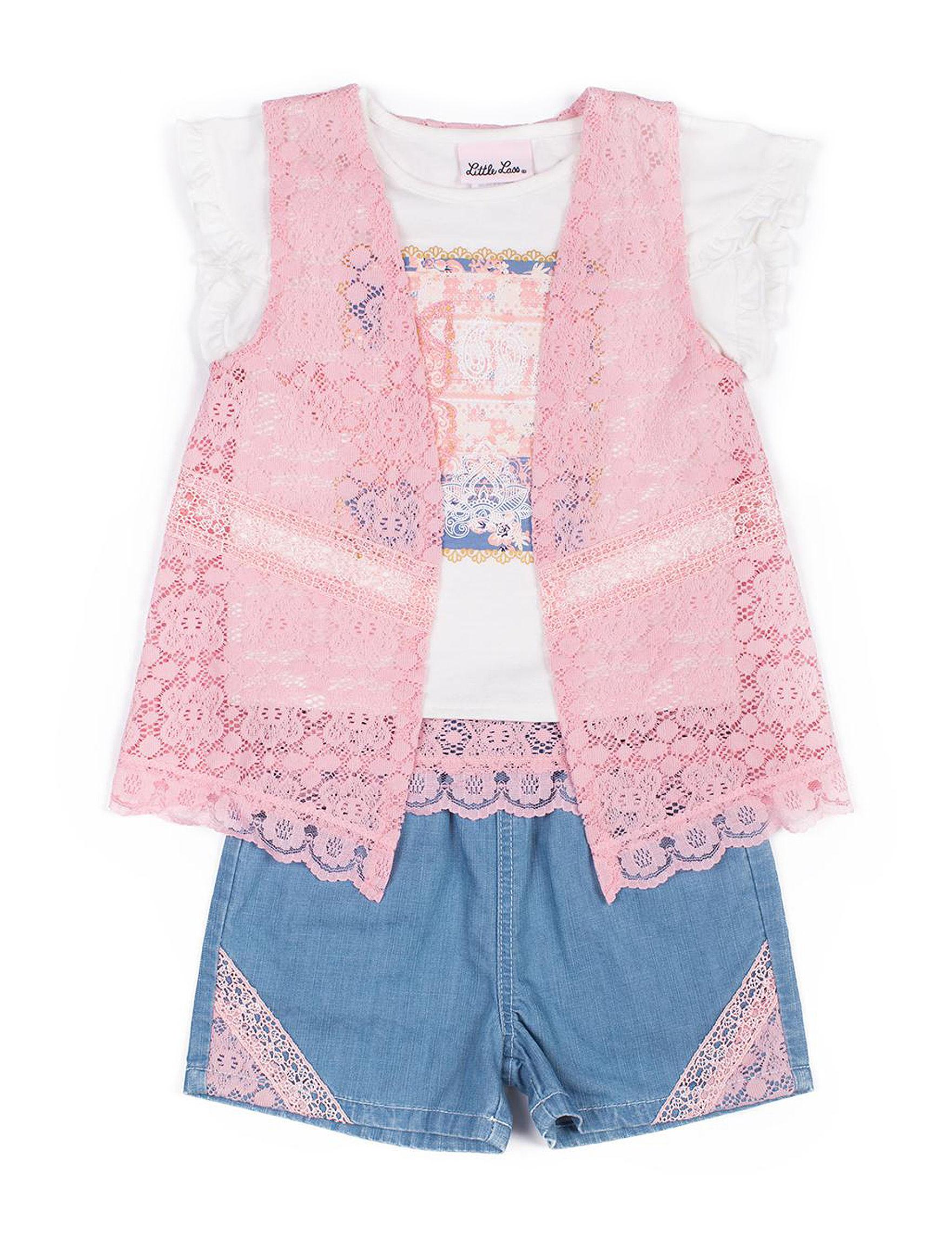 Little Lass Pink / White