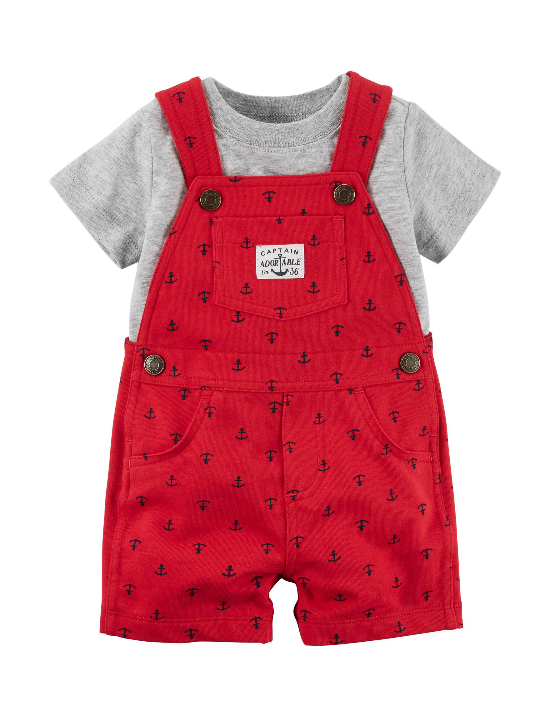 Carter's Grey / Red