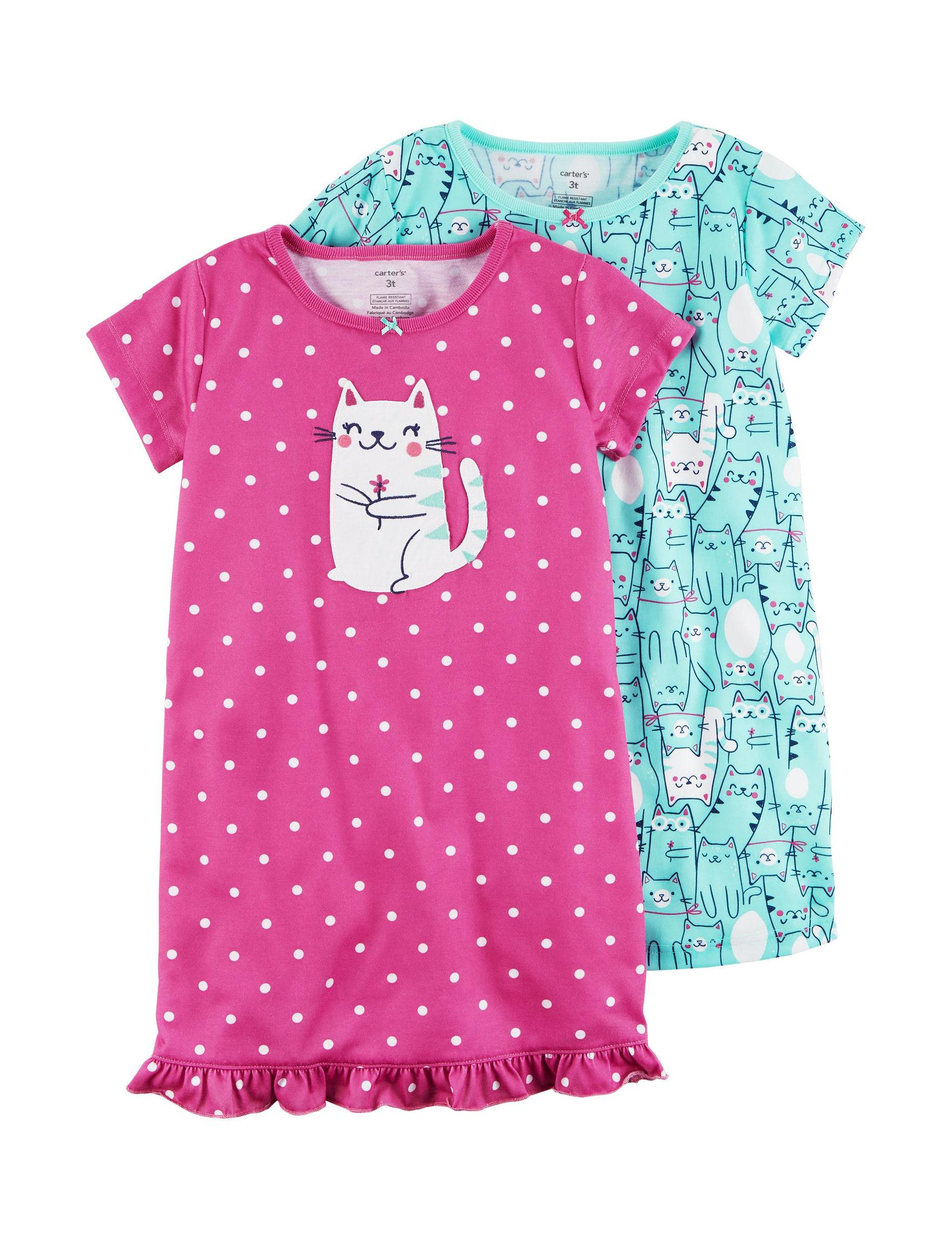 Carter's Pink / Blue Nightgowns & Sleep Shirts