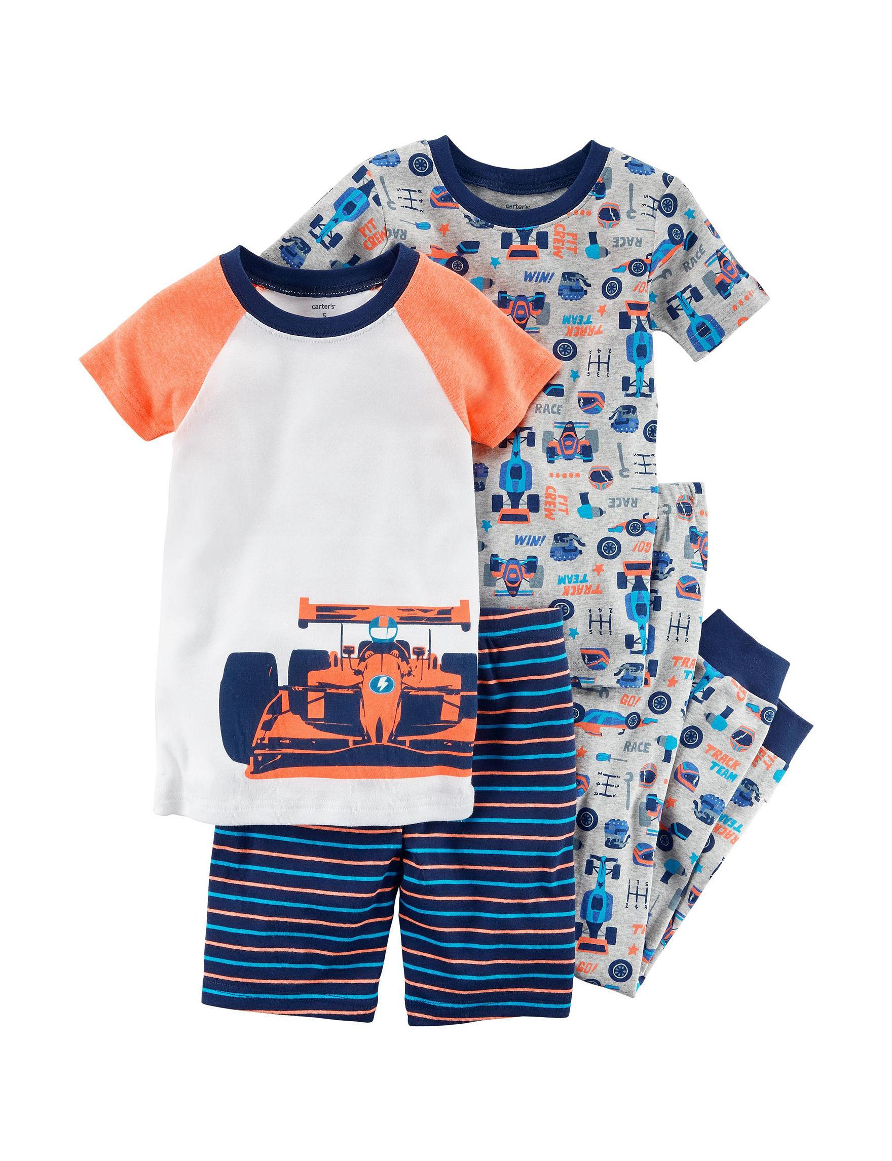 Carter's Blue / Orange Pajama Sets