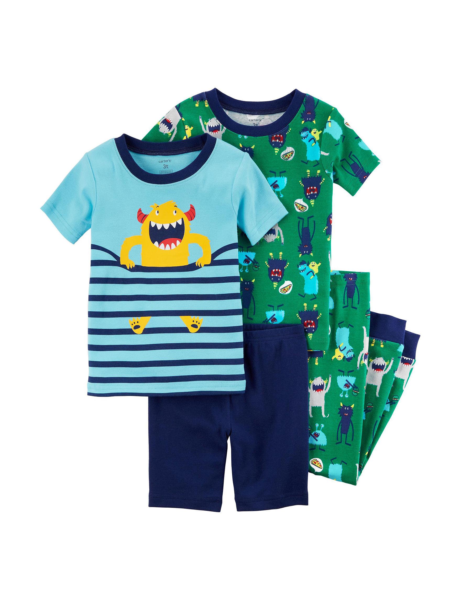 Carter's Blue / Green Pajama Sets