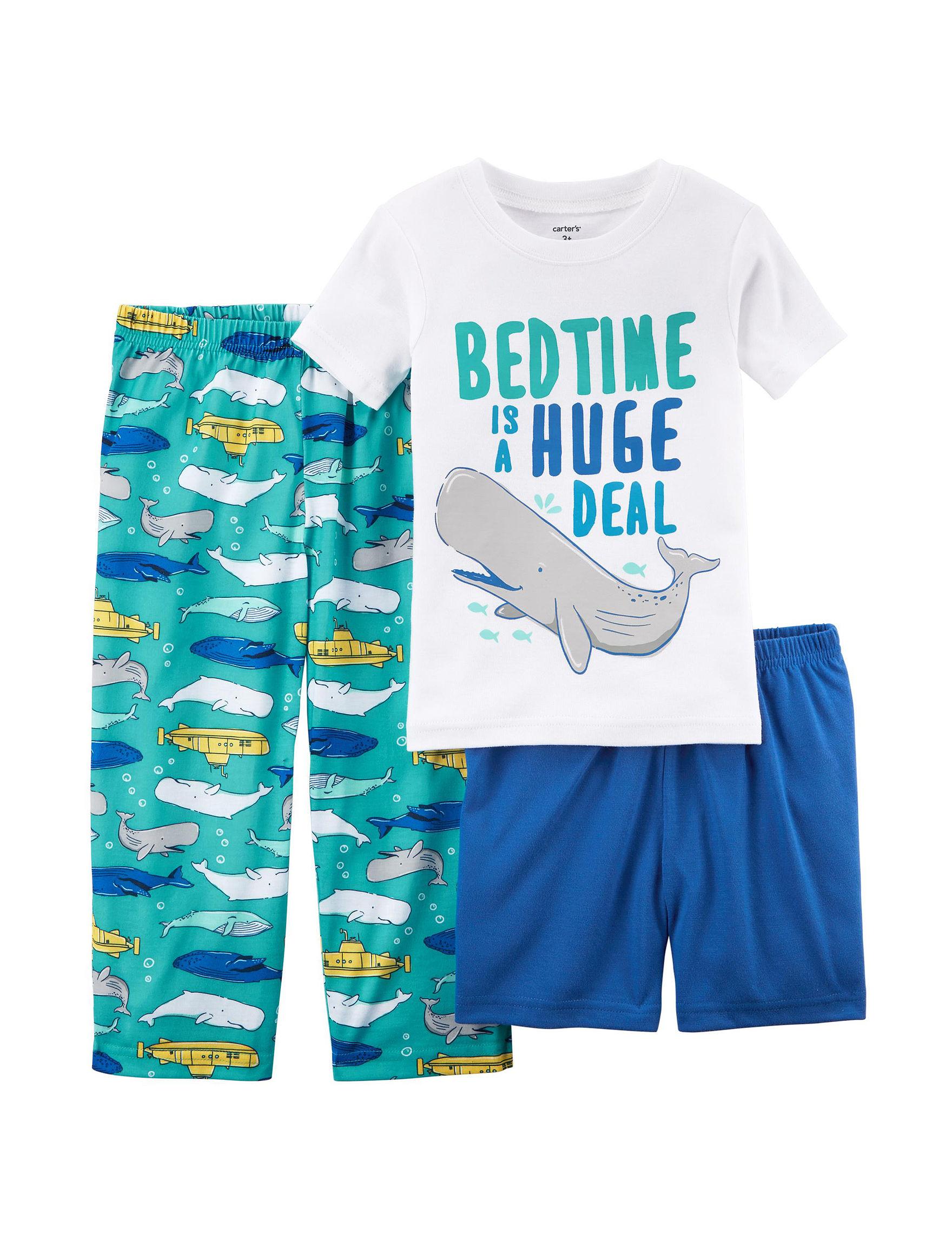 Carter's Blue / White Pajama Sets