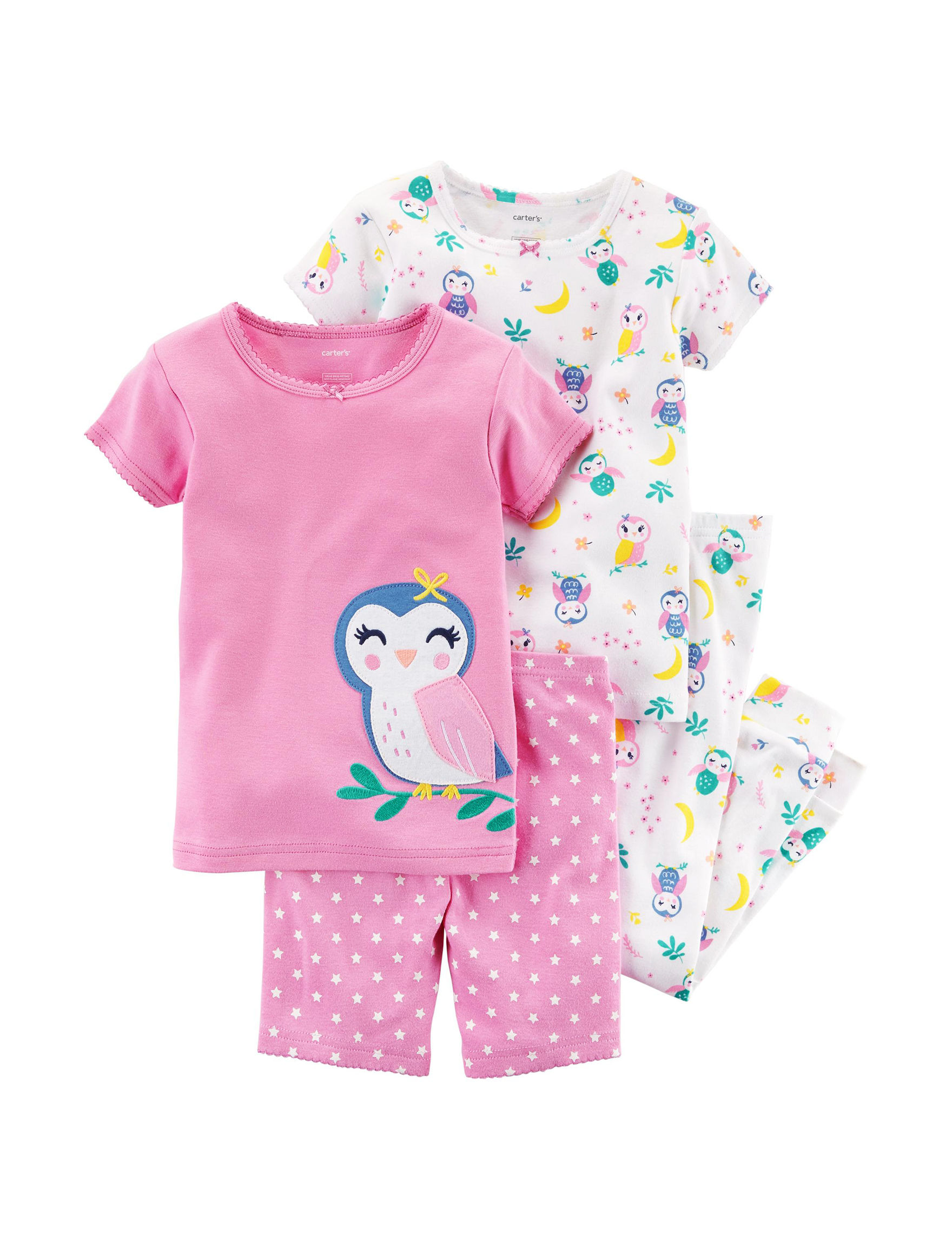 Carter's Pink / White Pajama Sets