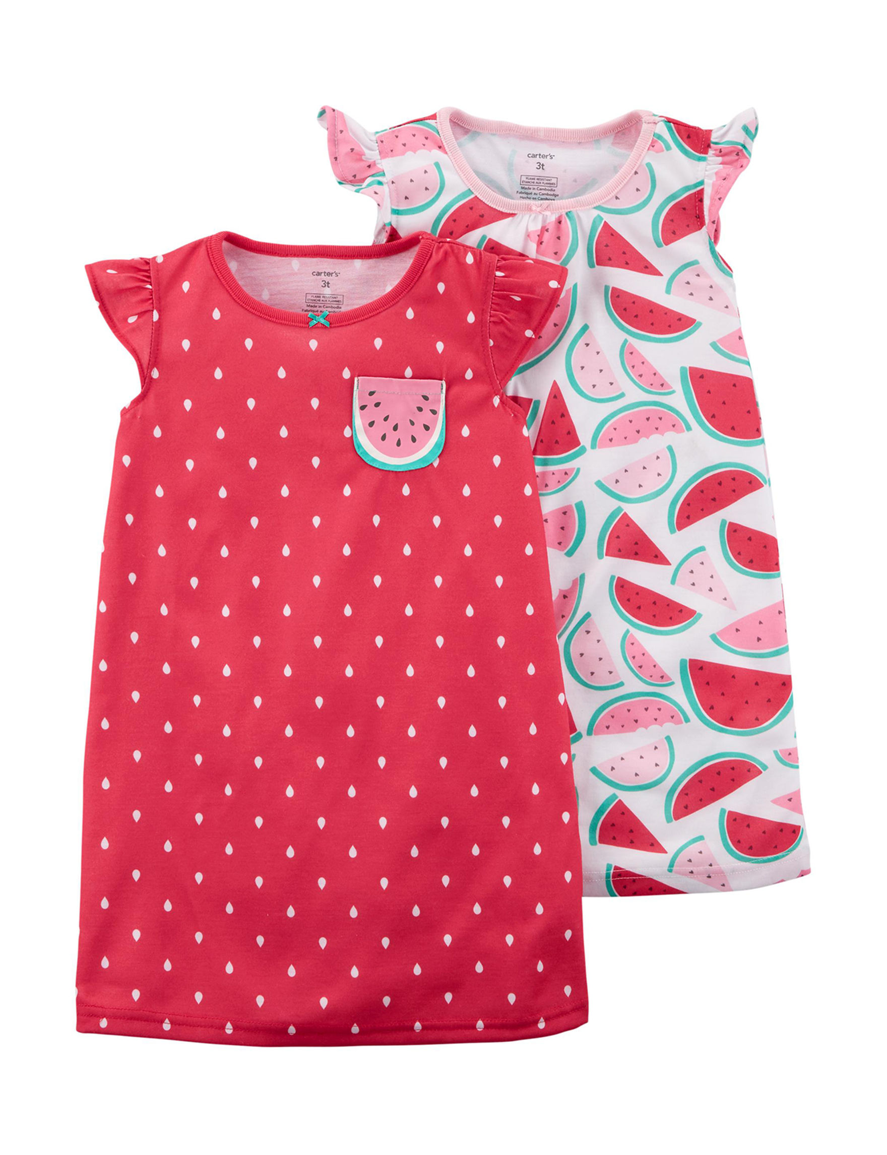 Carter's Red Multi Nightgowns & Sleep Shirts
