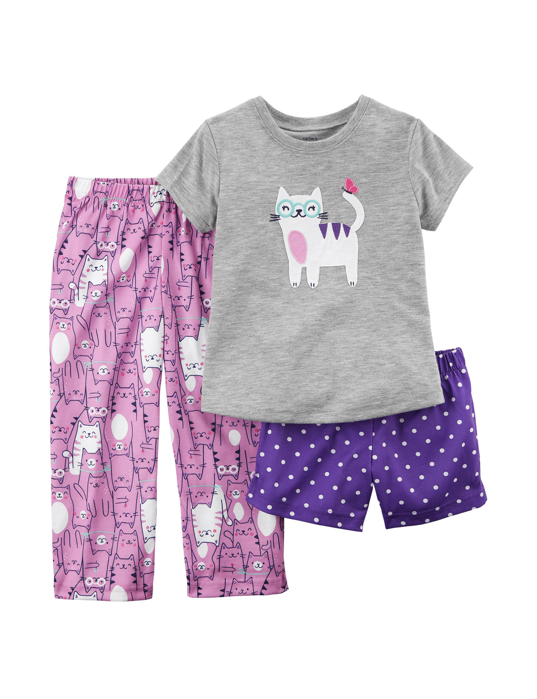 Carter's Purple / Grey Pajama Sets