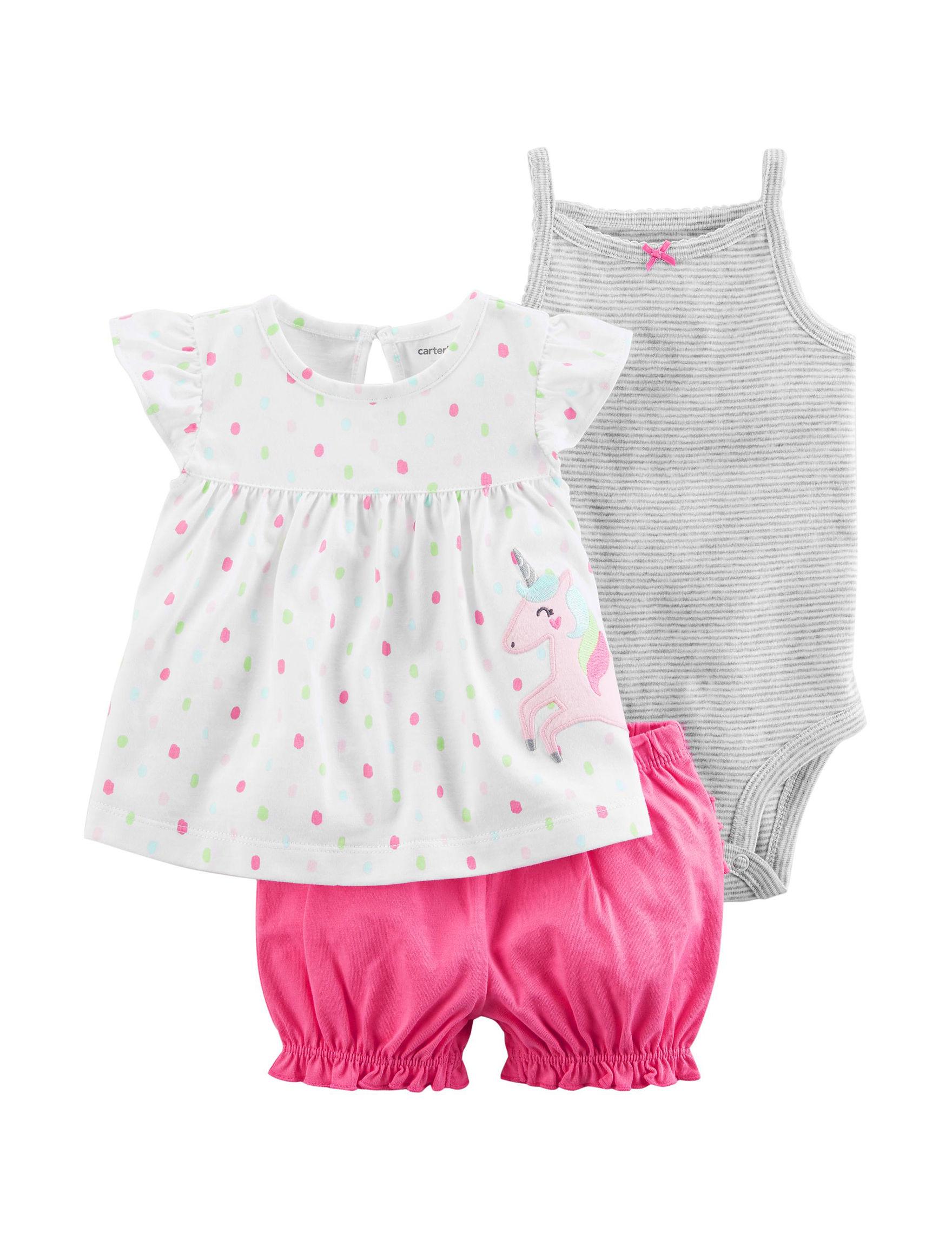 Carter's White / Pink