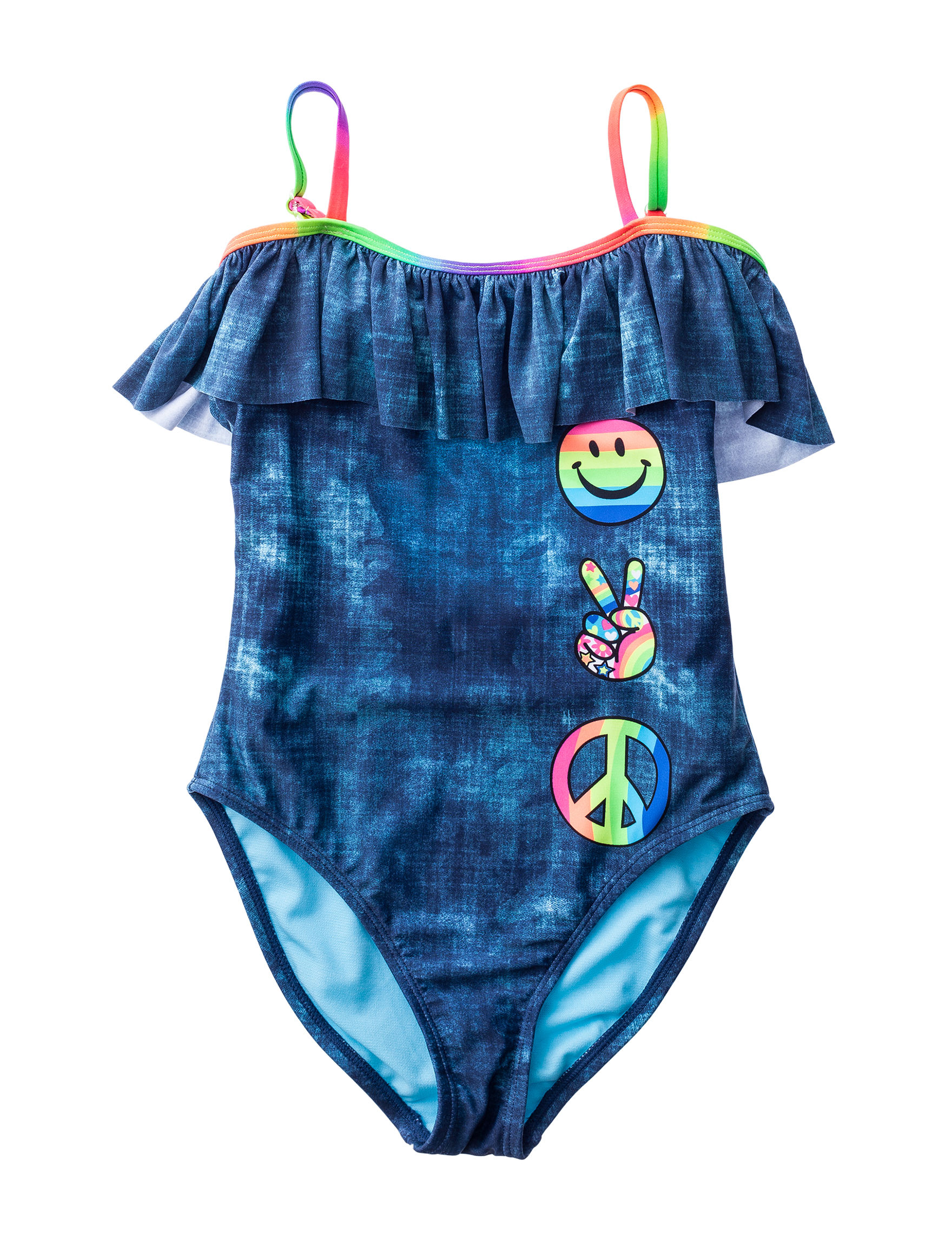 Angel Beach Blue One-piece Swimsuits Halter