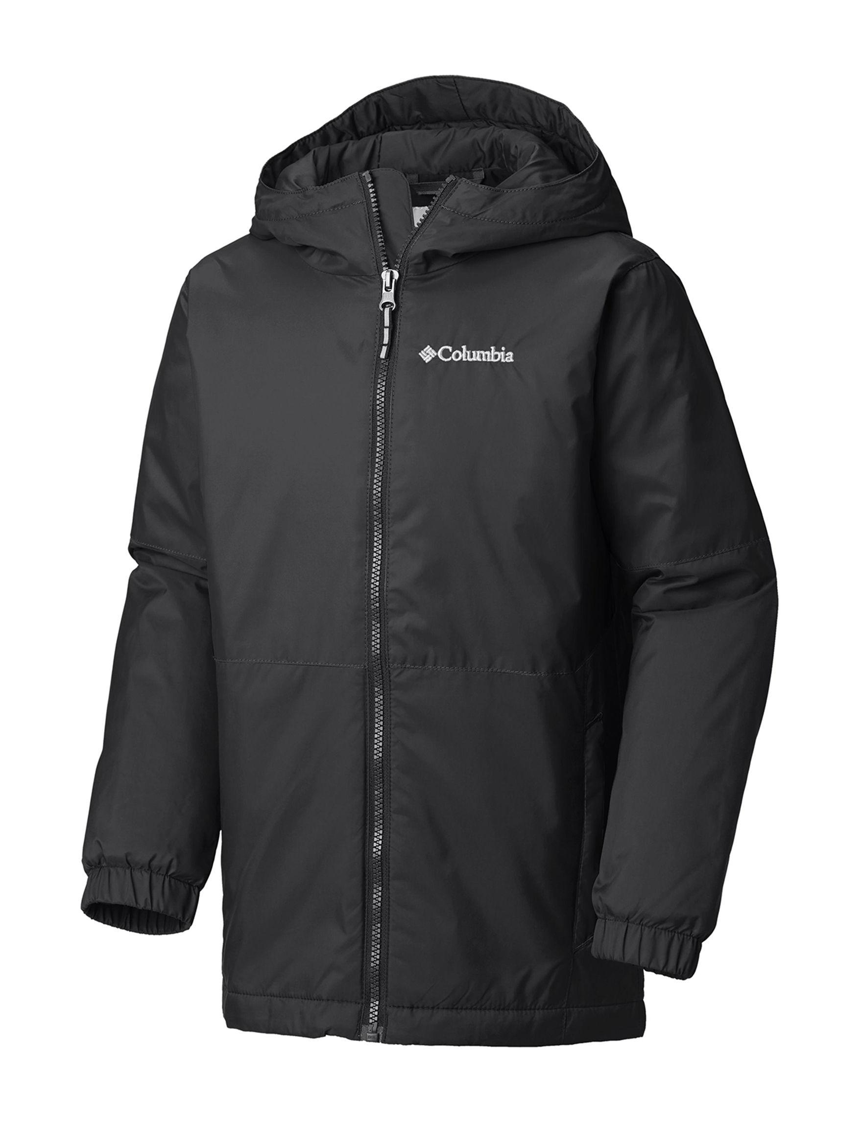 Columbia Dark Grey Fleece & Soft Shell Jackets