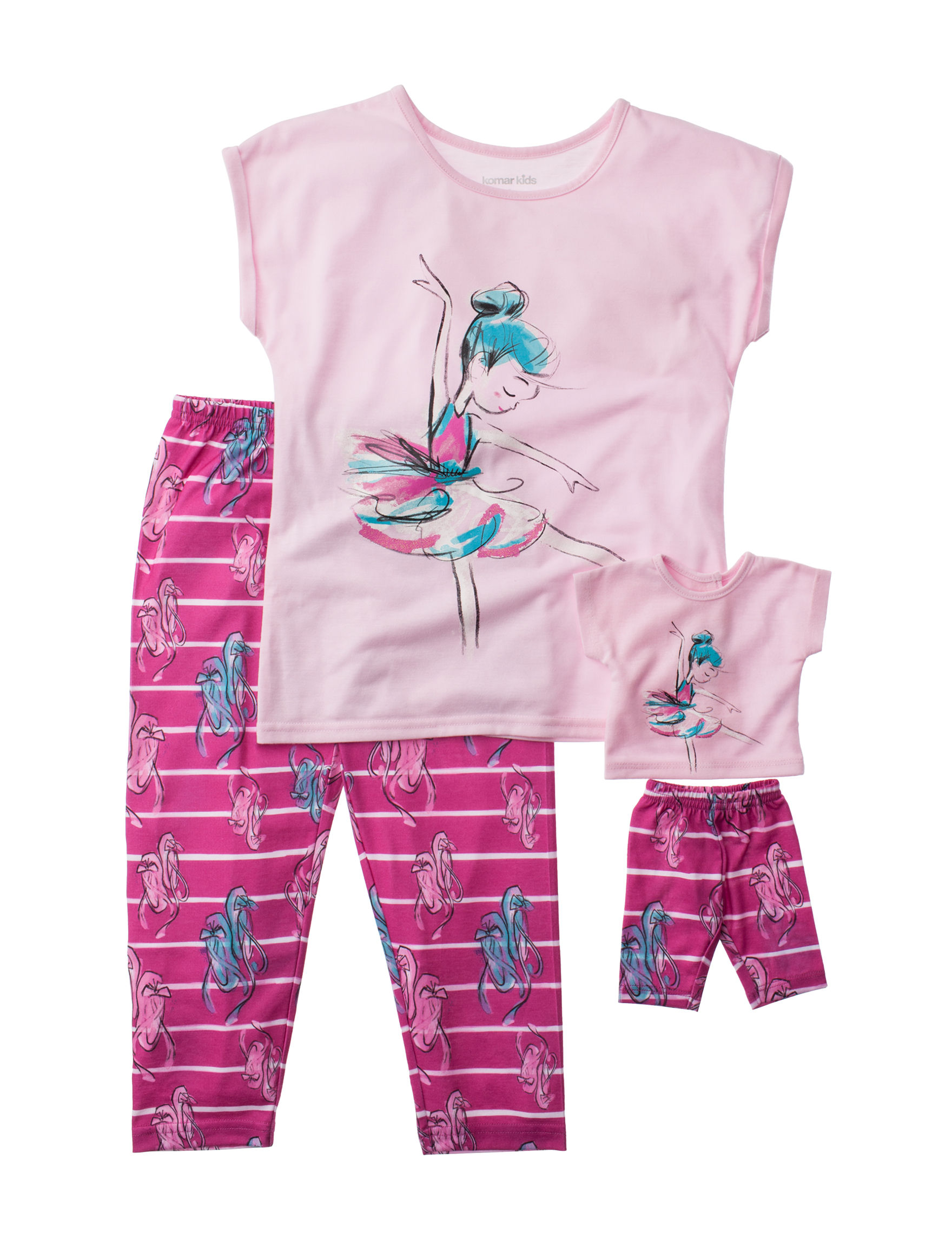 Komar Kids Pink Stripe Pajama Sets