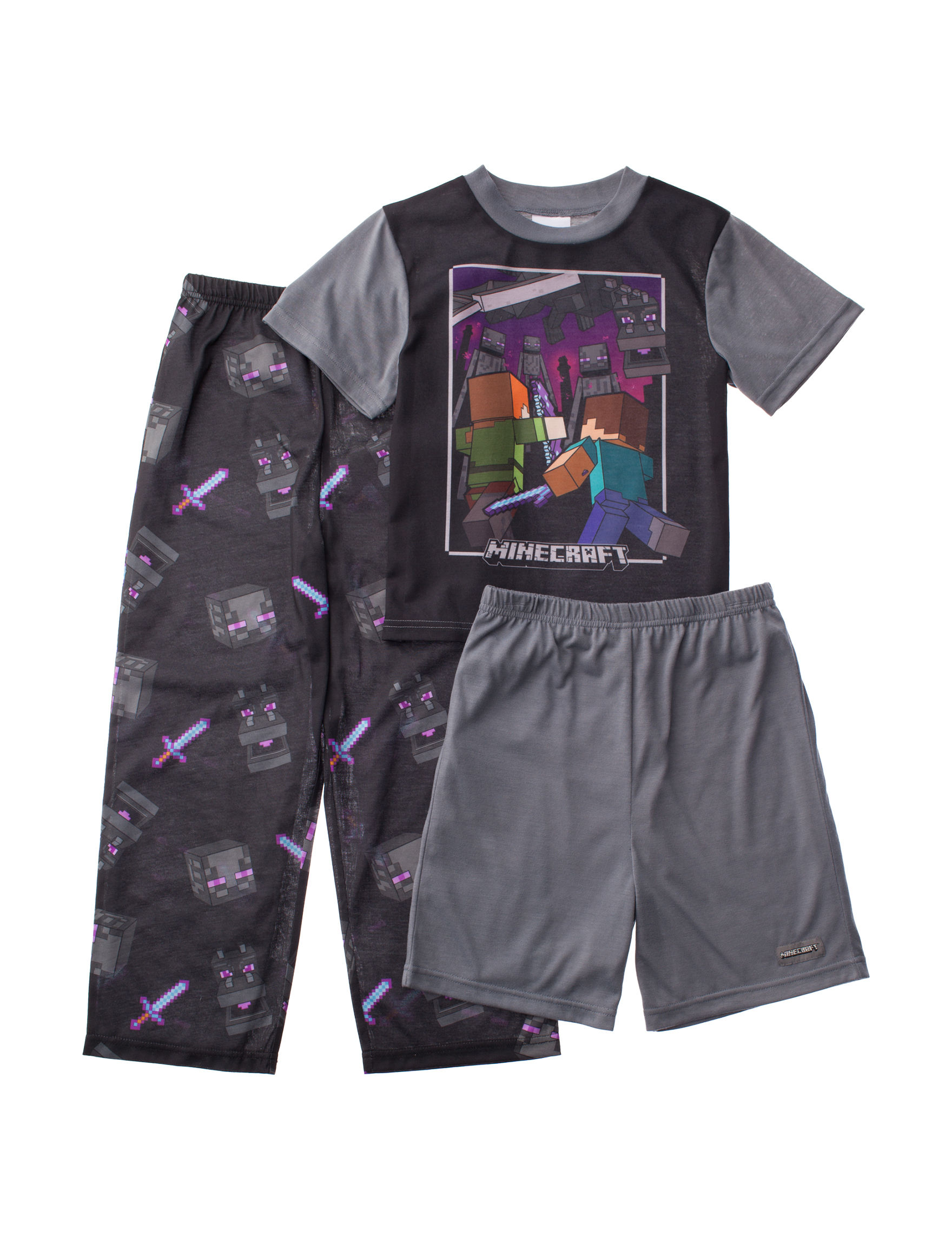 Licensed Black / Grey Pajama Sets