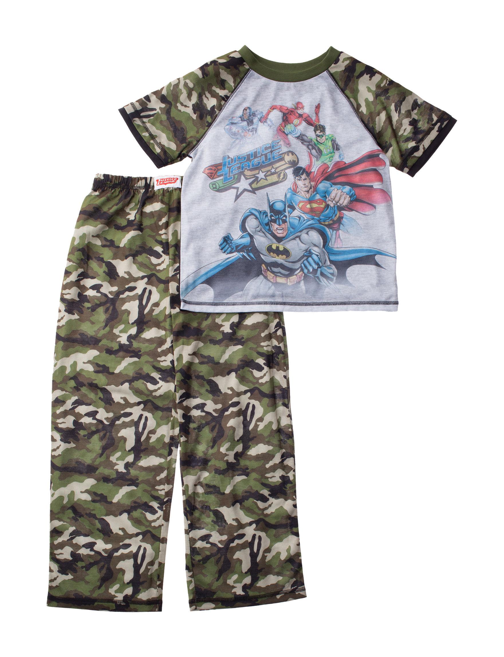 Licensed Green / Grey Pajama Sets