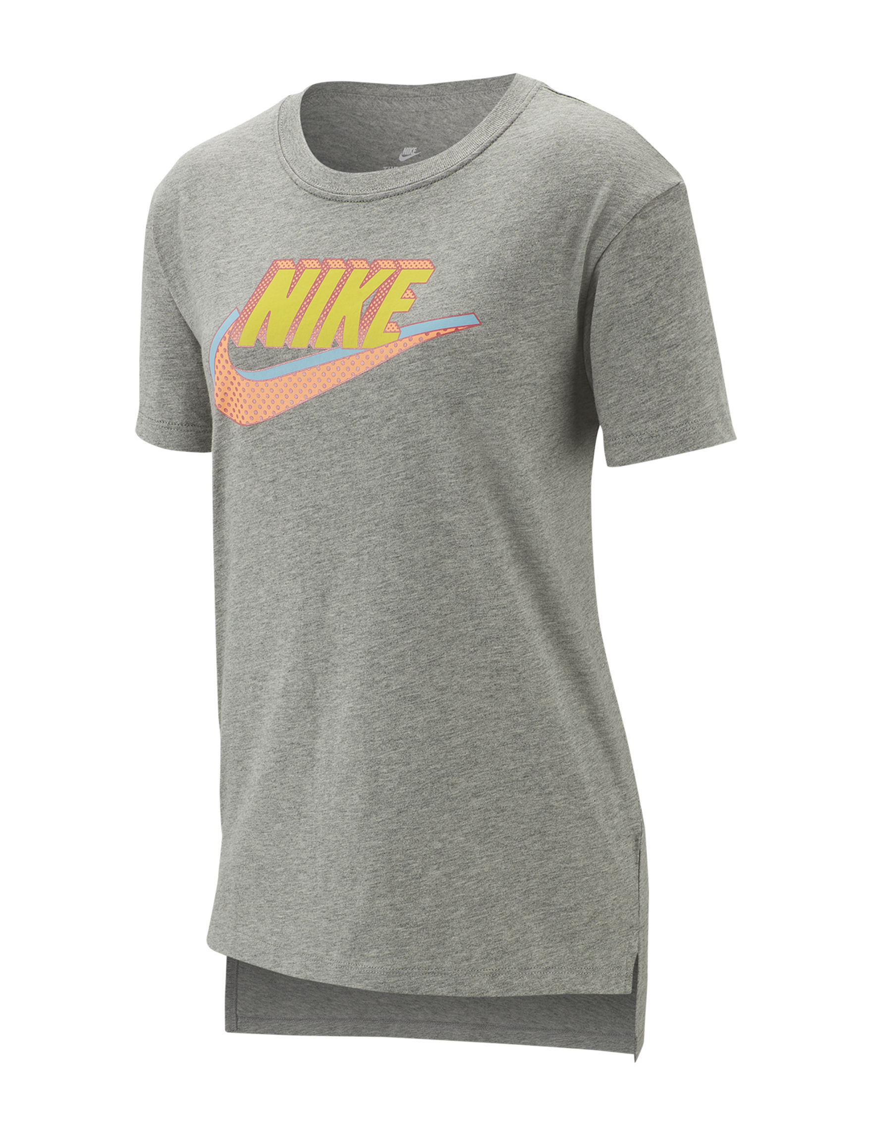 Nike Heather Grey Tees & Tanks