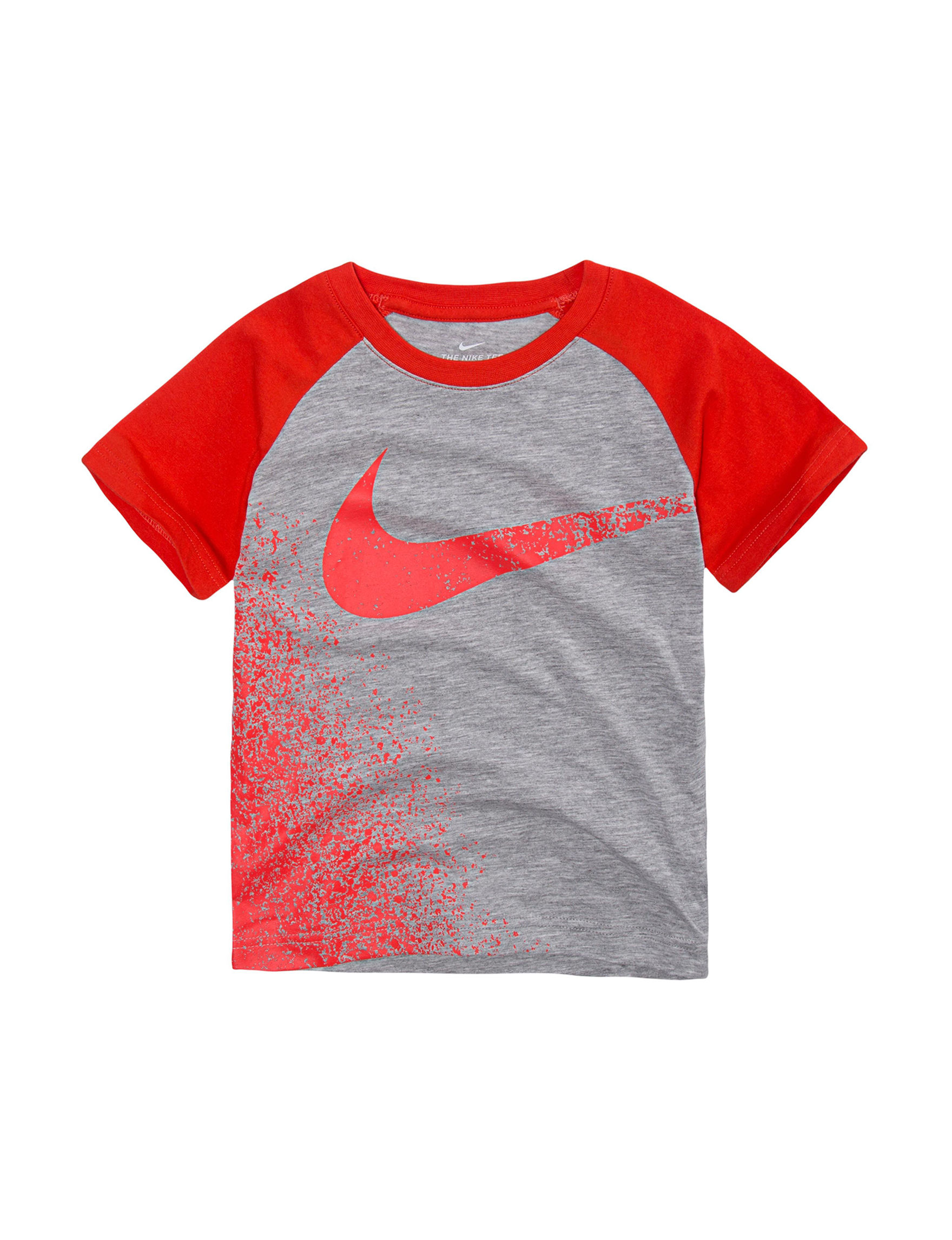 Nike Grey / Red Tees & Tanks
