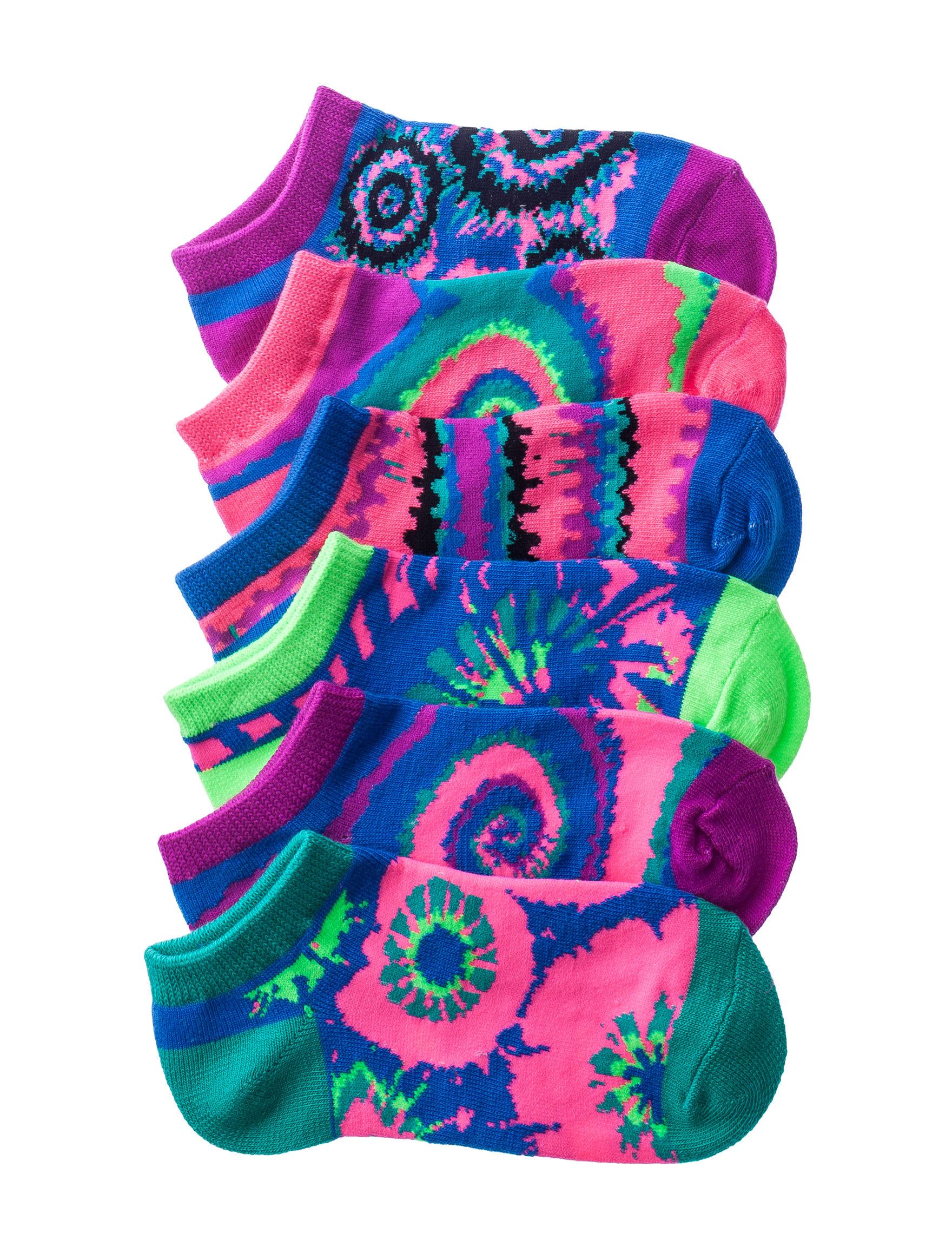La De Da Pink Multi Socks