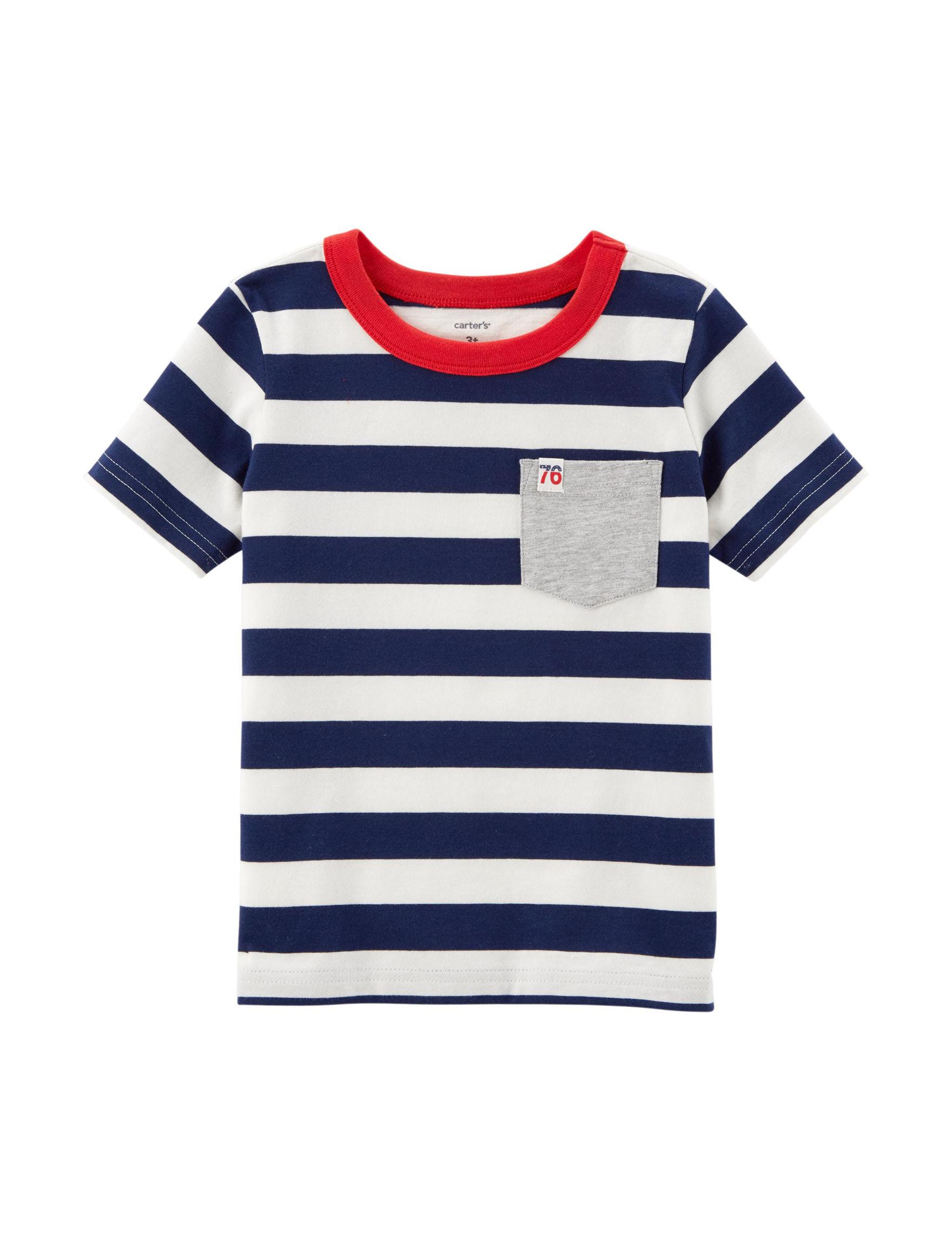 Carter's Navy Stripe Tees & Tanks