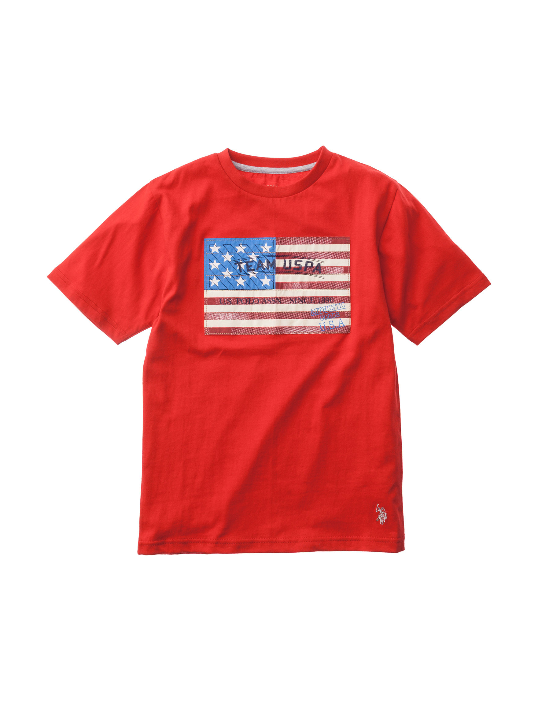 U.S. Polo Assn. Bright Red Tees & Tanks