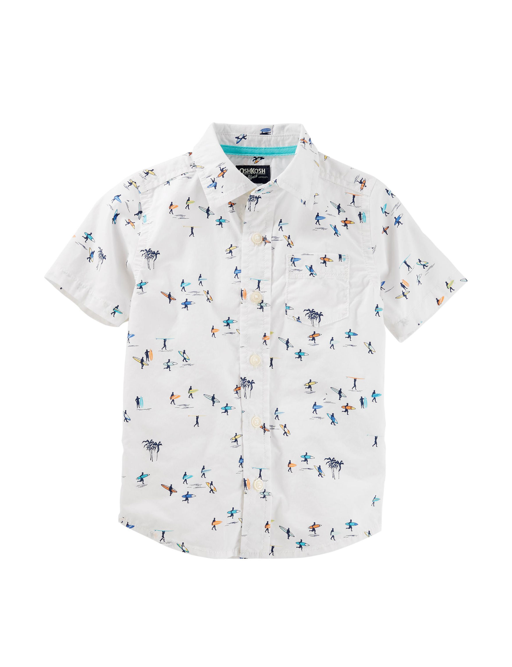 Oshkosh B'Gosh White / Multi Casual Button Down Shirts