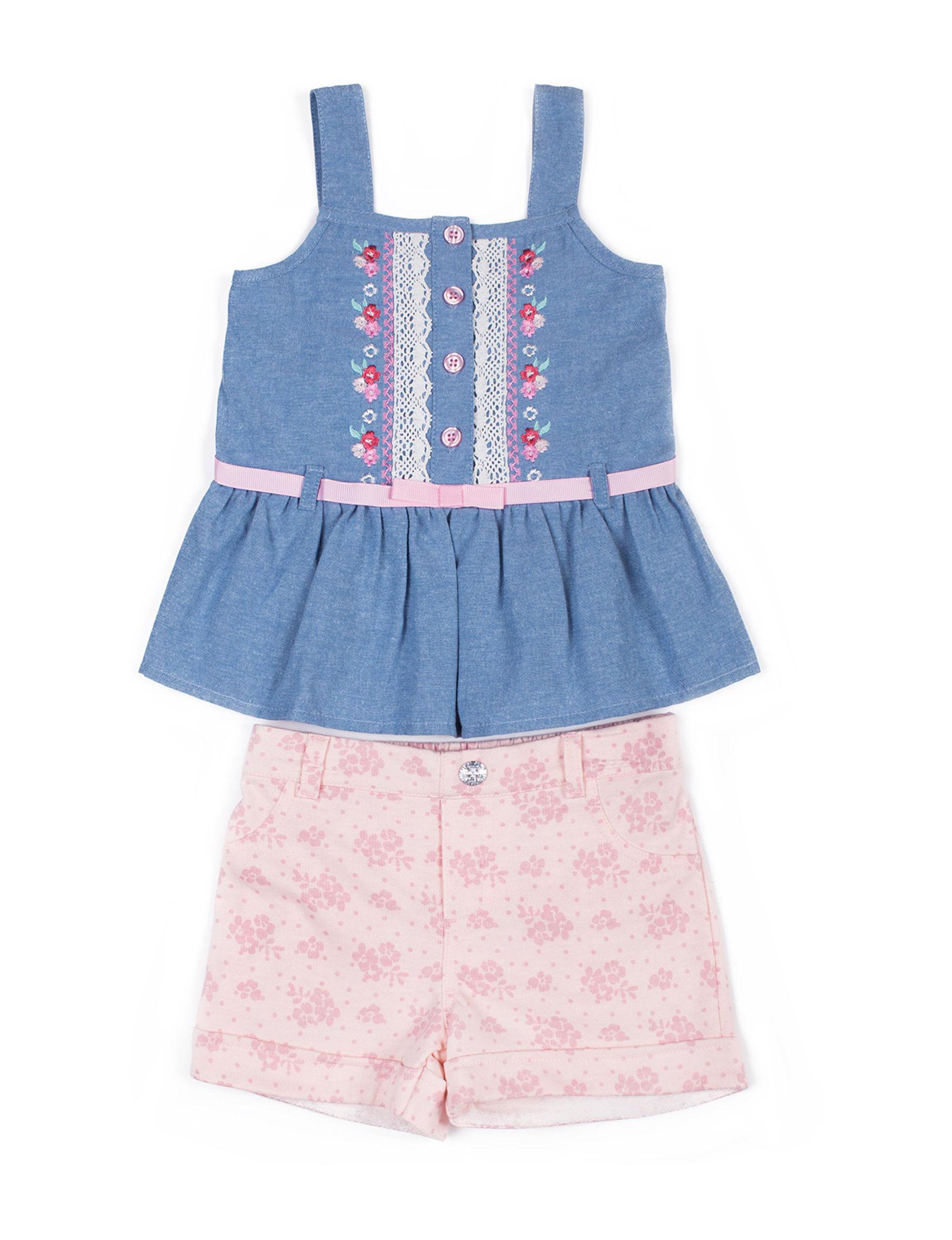 Little Lass Chambray Soft Shorts