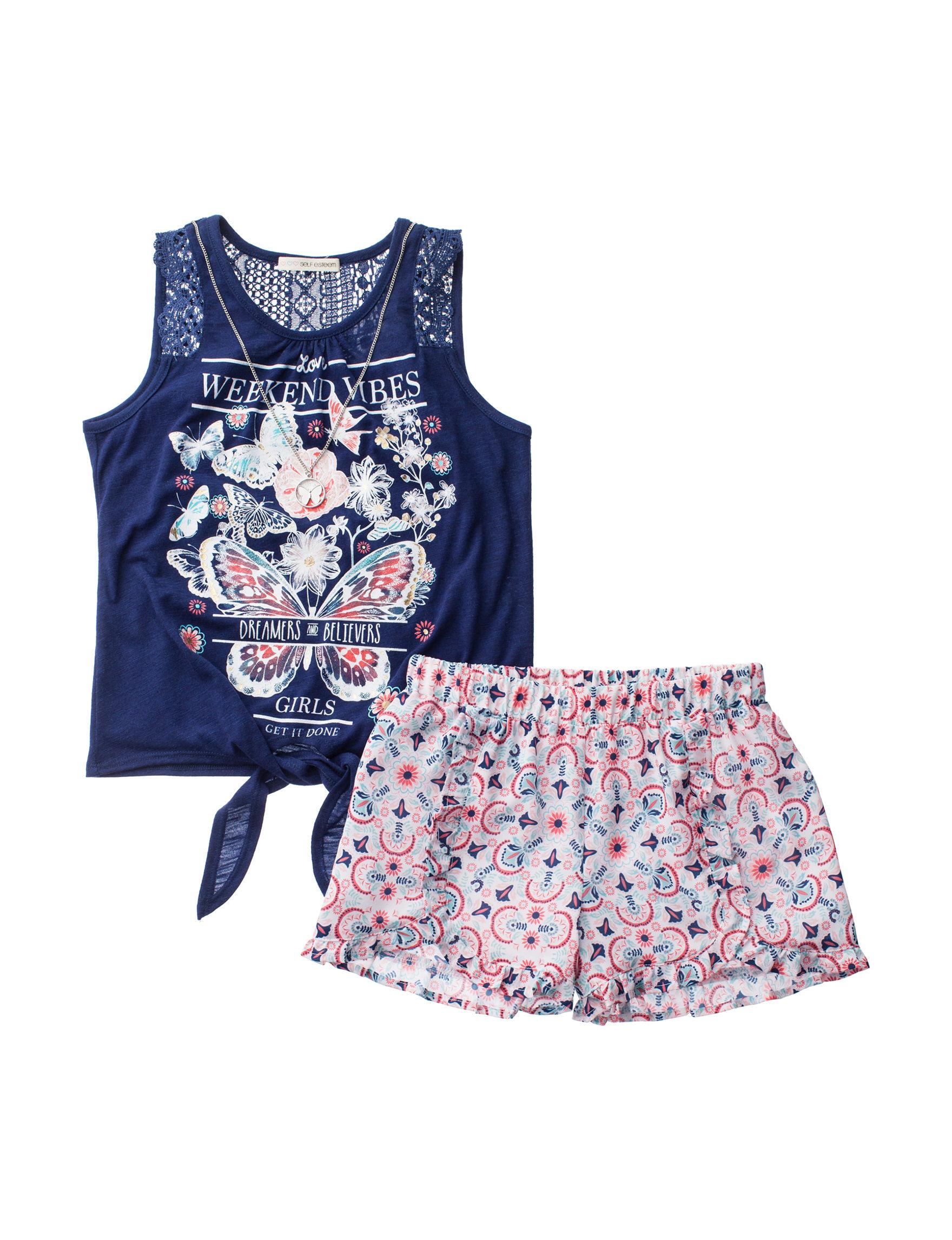 Self Esteem Navy / Multi Soft Shorts