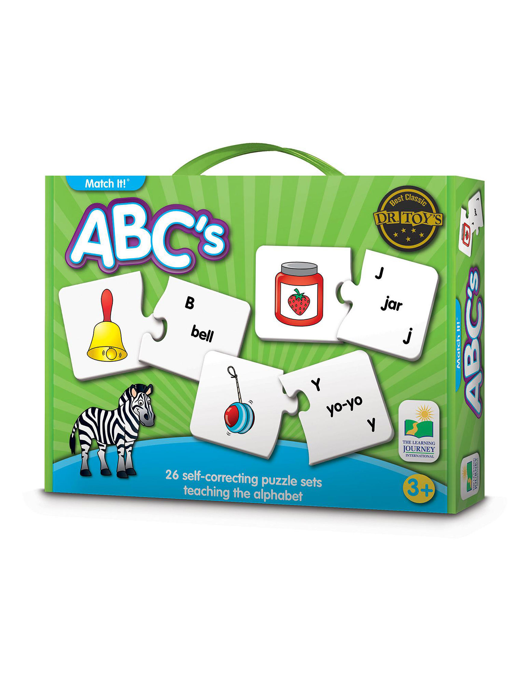 The Learning Journey 52-pc. Match It! ABC's - Green Multi - The Learning Journey