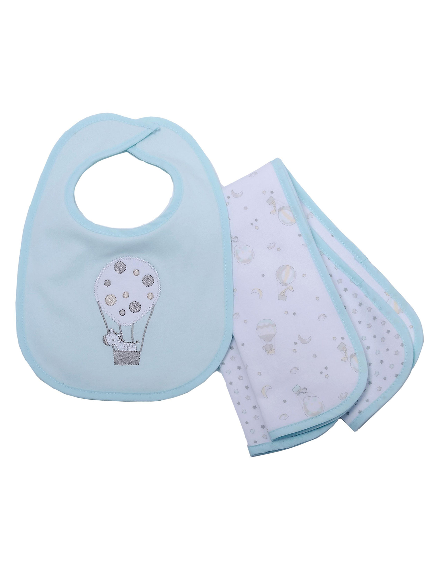 Kyle & Deena Mint Bibs & Burp Cloths