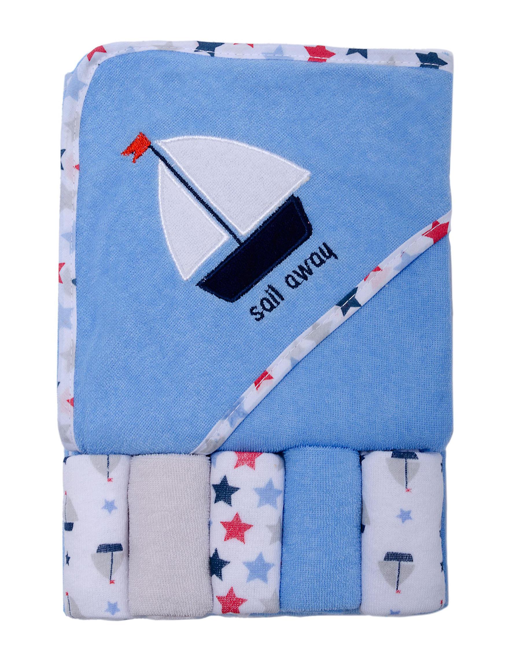 Baby Gear Blue Washcloths