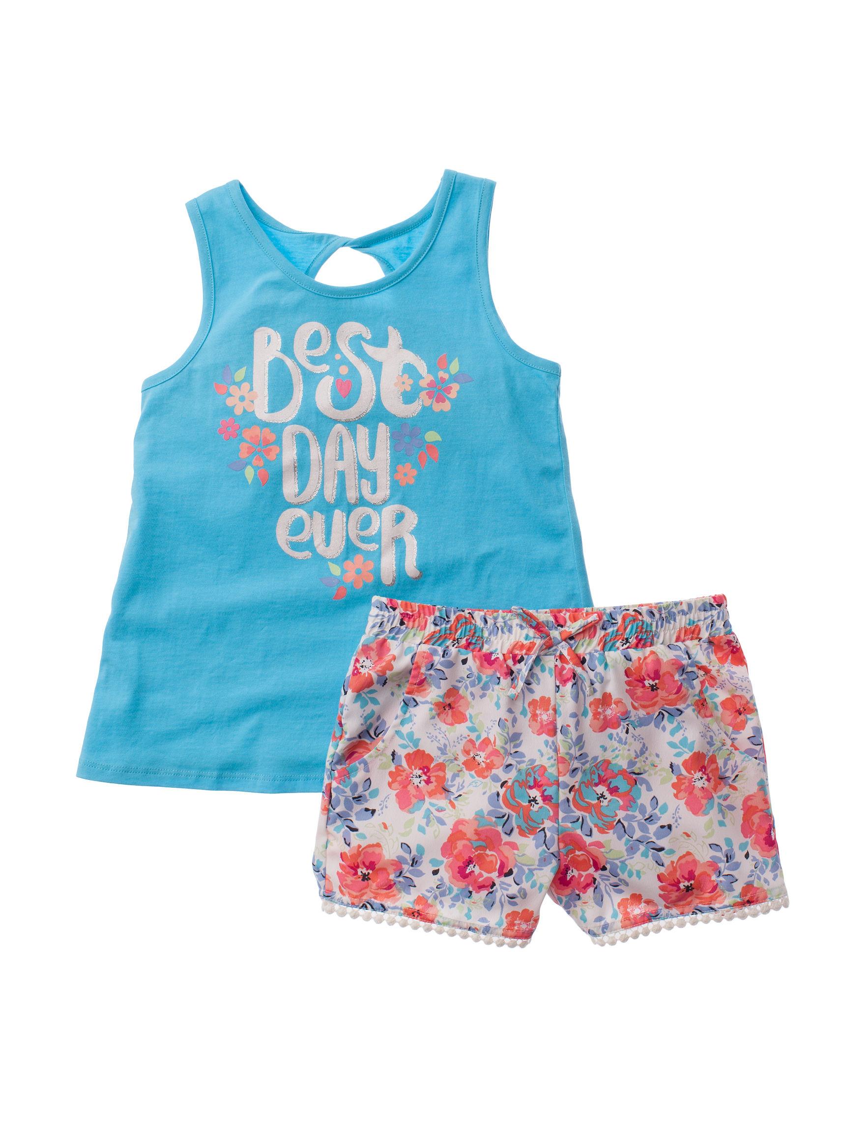 Star Ride Blue / Multi Soft Shorts