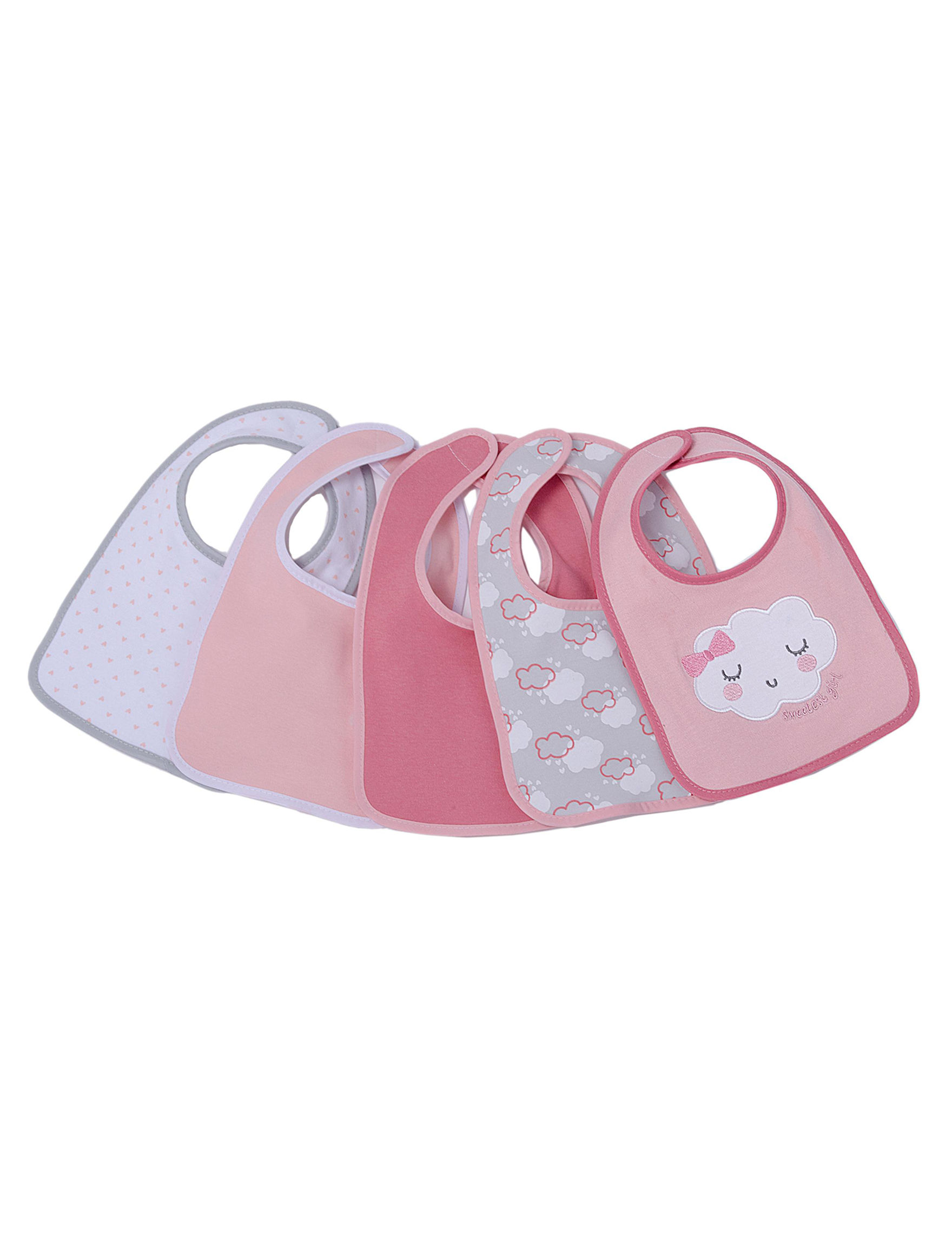Cutie Pie Pink Bibs & Burp Cloths