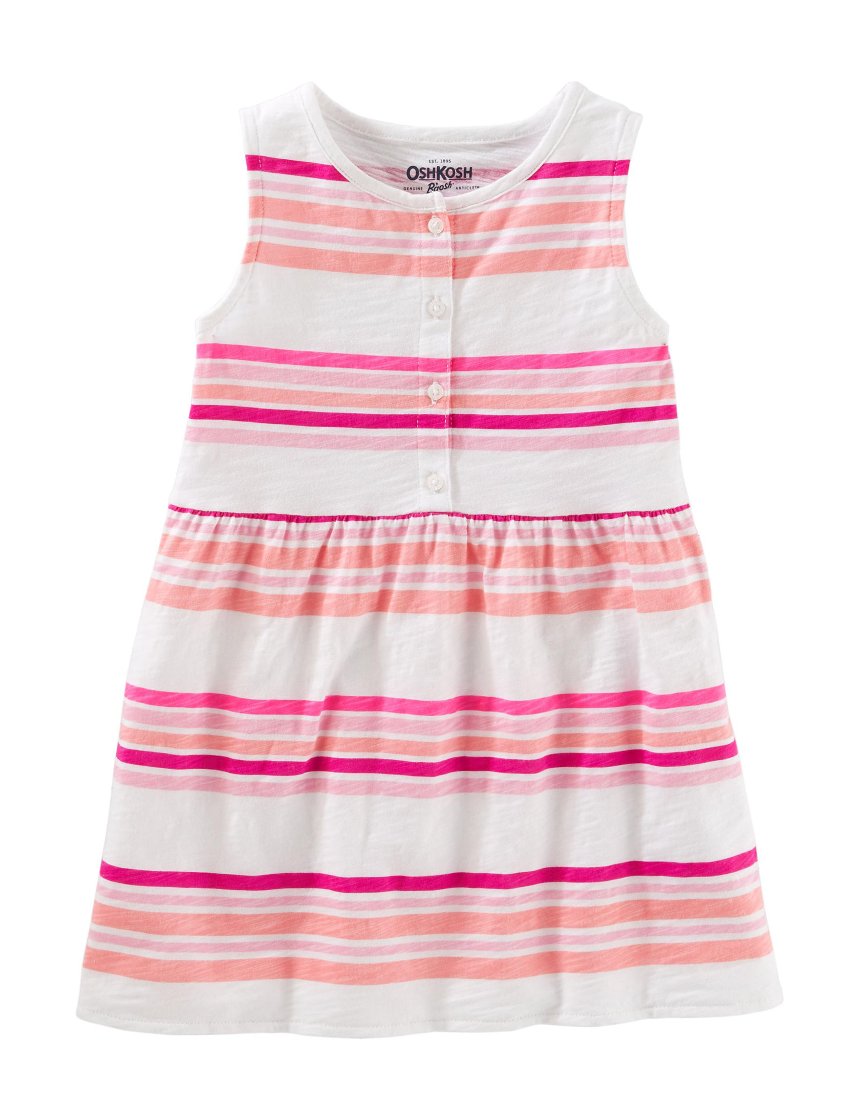 Oshkosh B'Gosh White Stripe Tees & Tanks
