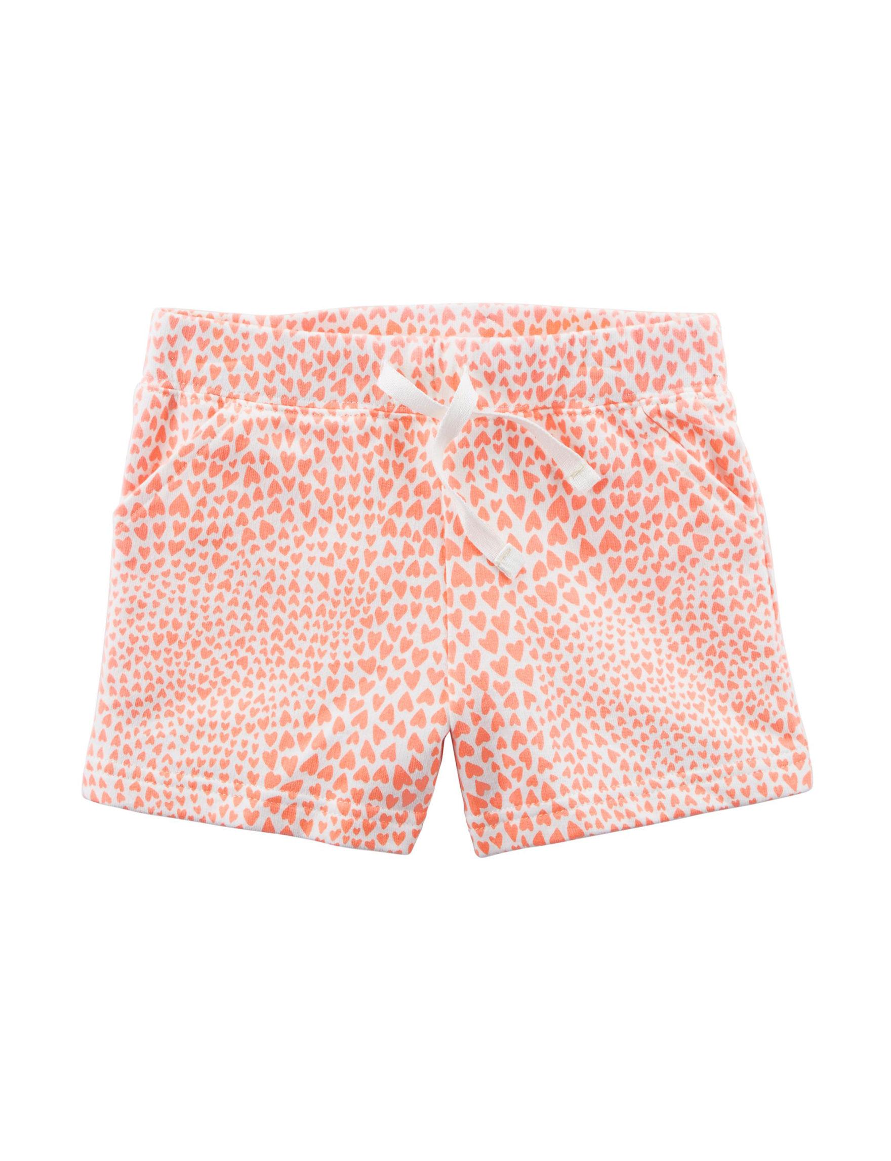 Carter's Orange / White Soft Shorts