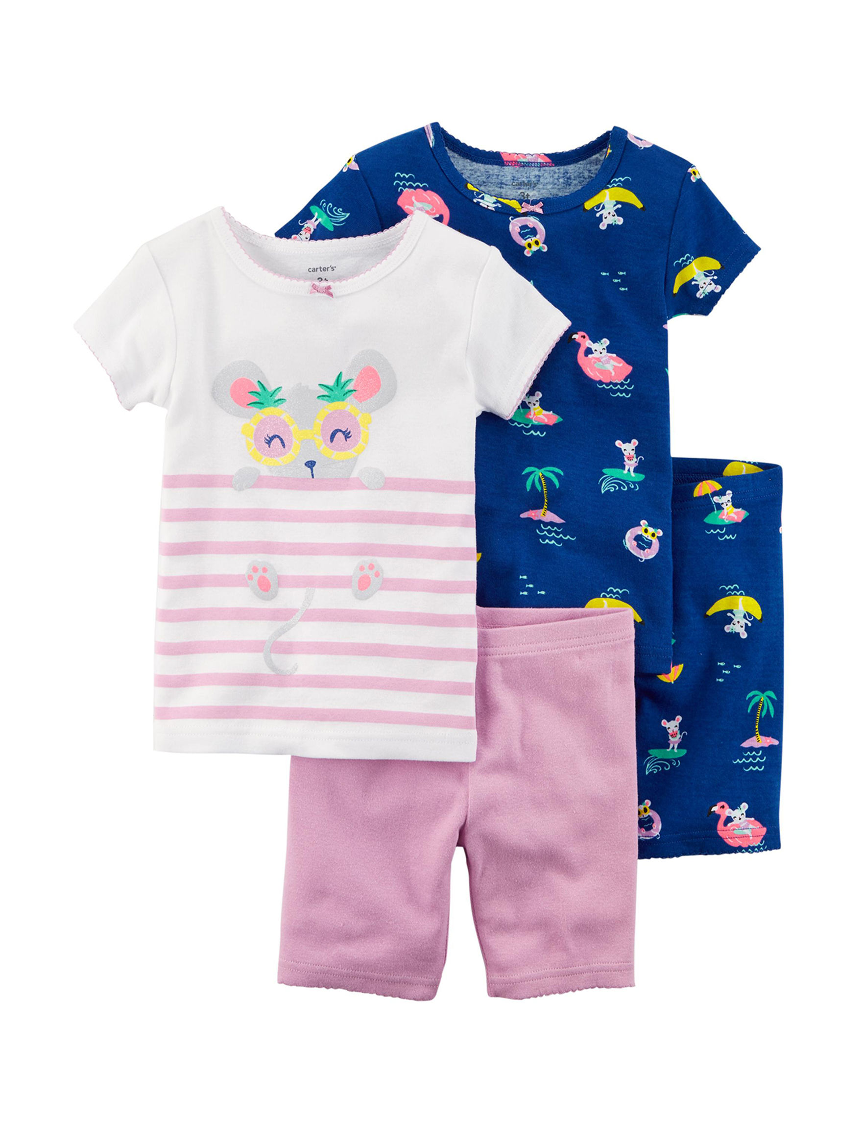 Carter's Pink / Blue Pajama Sets
