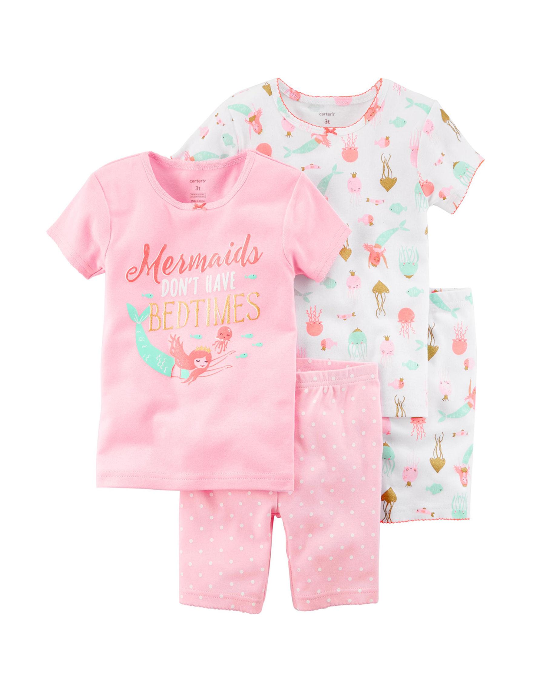 Carter's Pink / White Pajama Sets