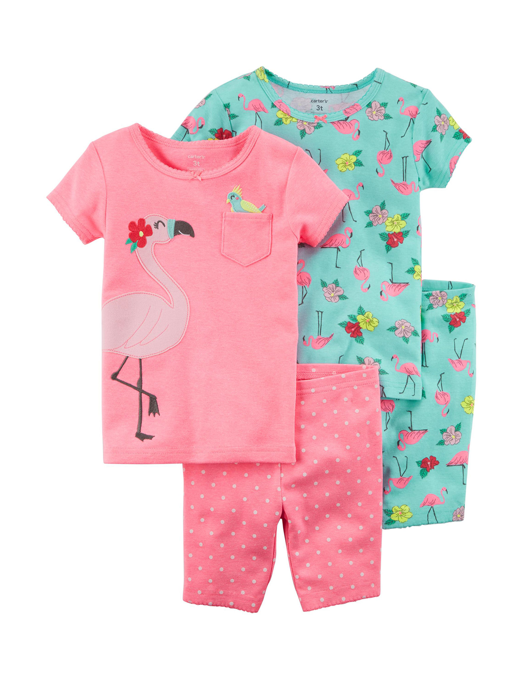 Carter's Pink / Aqua Pajama Sets