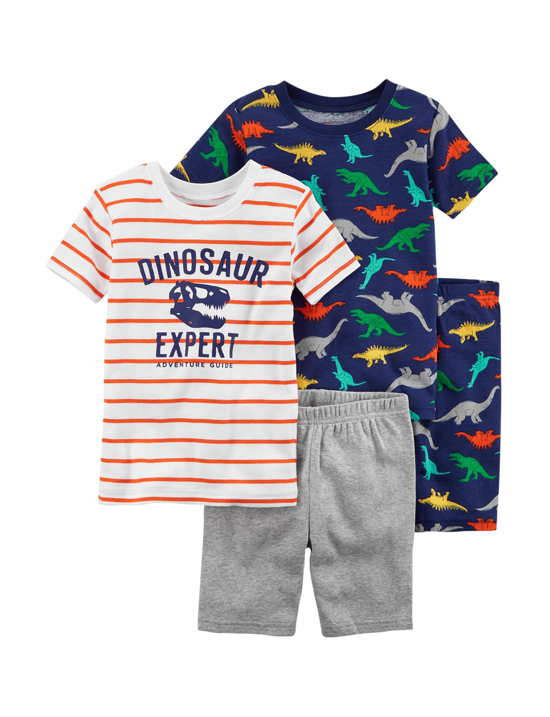 Carter's Orange/ White/ Blue Pajama Sets