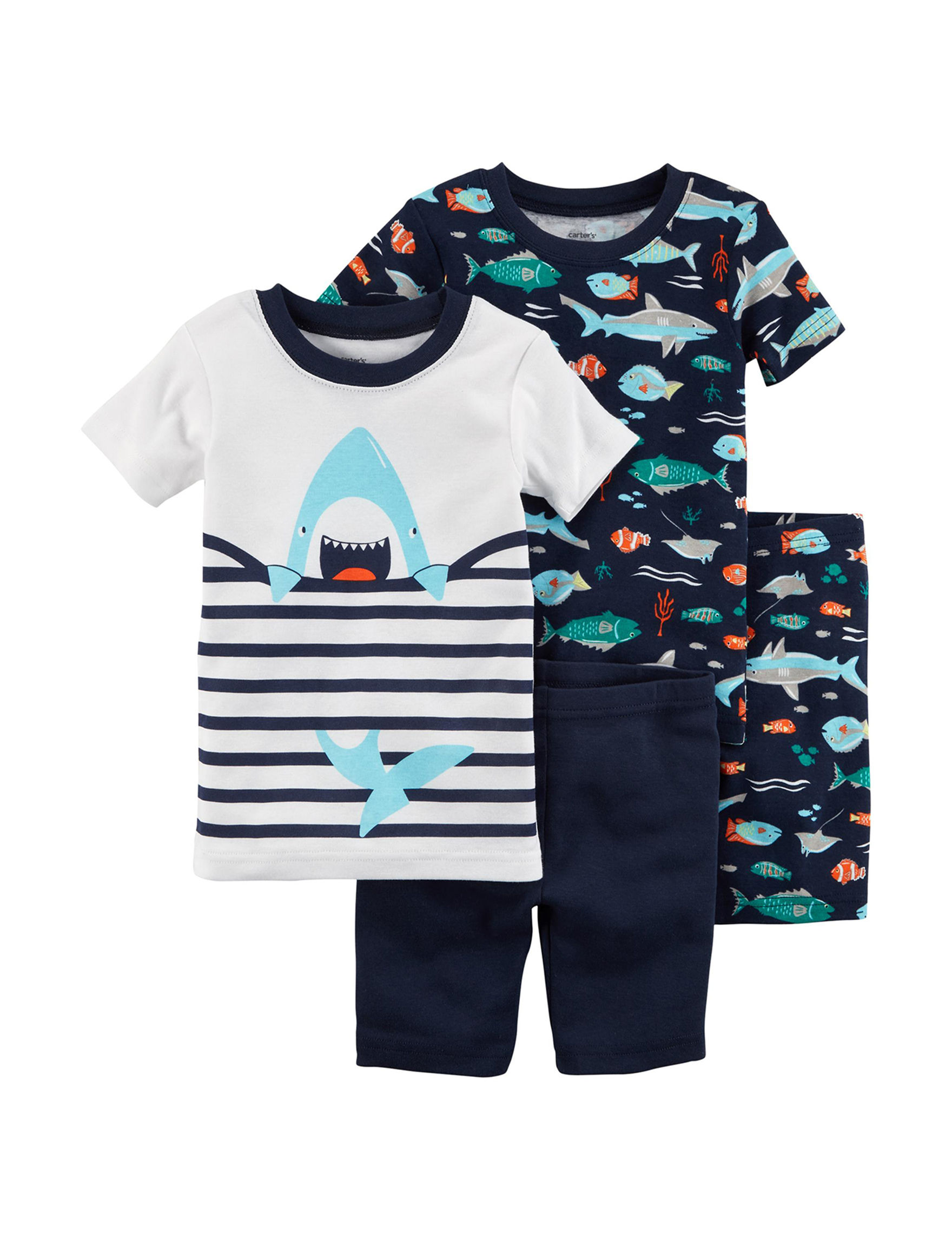 Carter's White / Blue / Green Pajama Sets