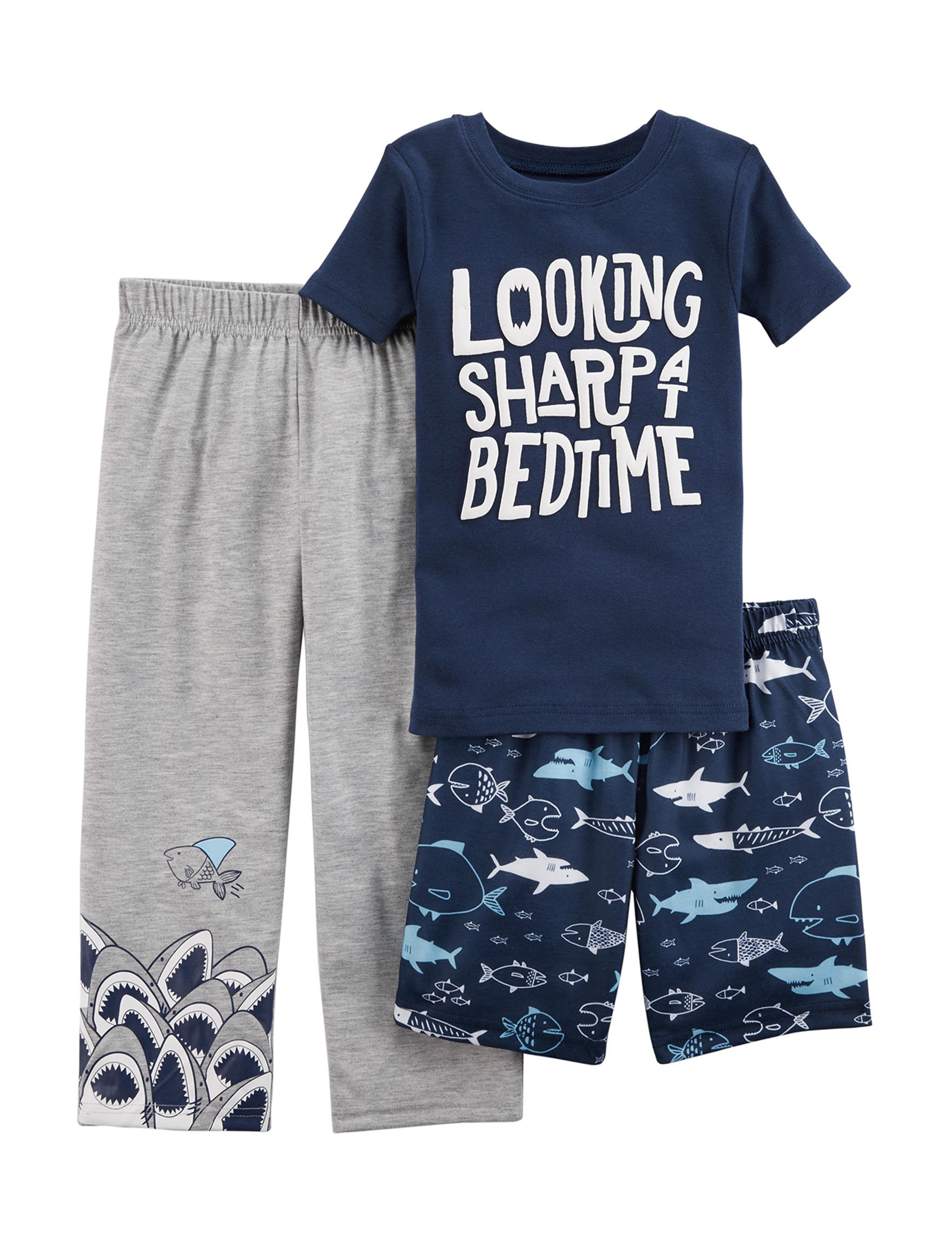 Carter's Blue / Grey Pajama Sets