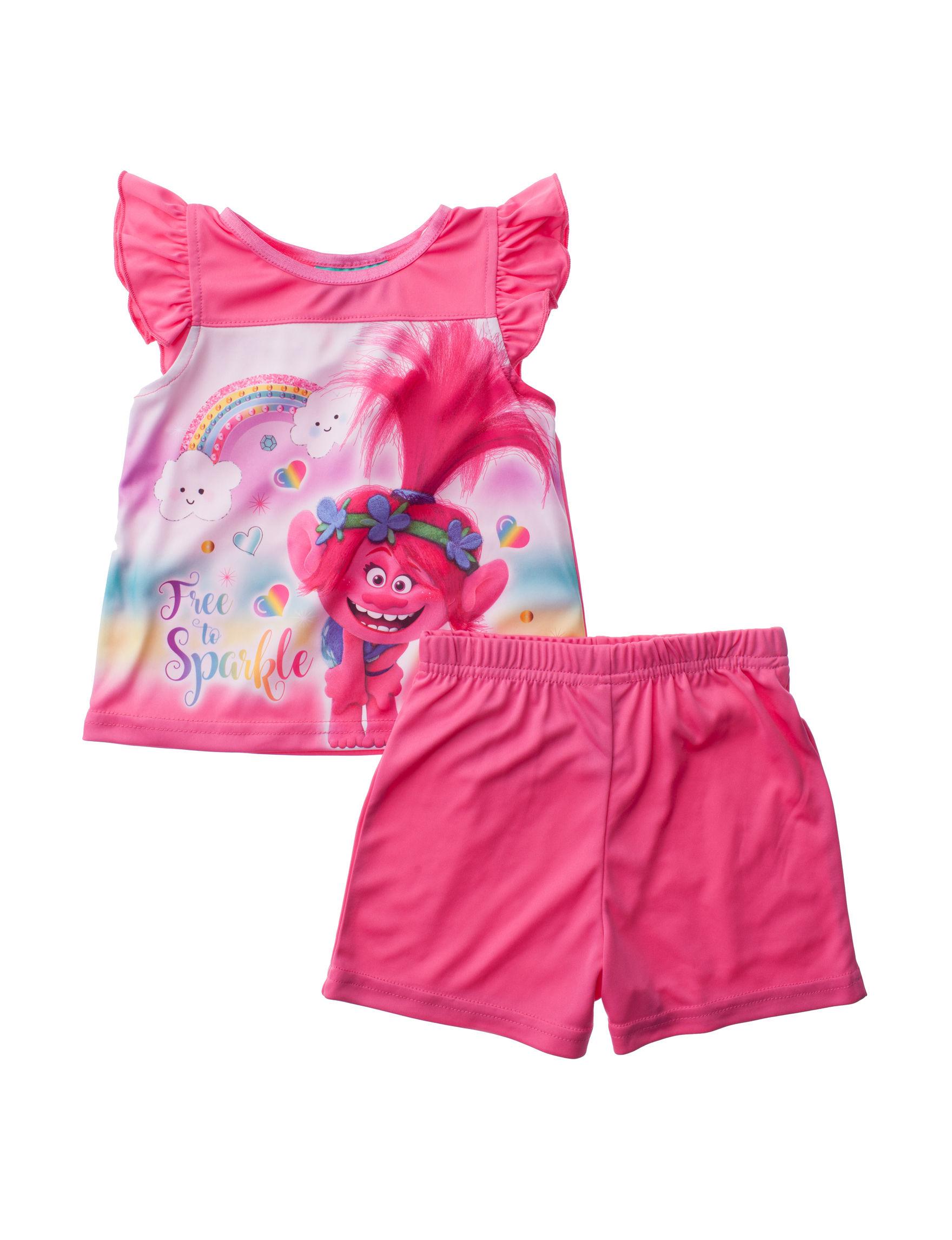 Licensed Pink Multi Pajama Sets