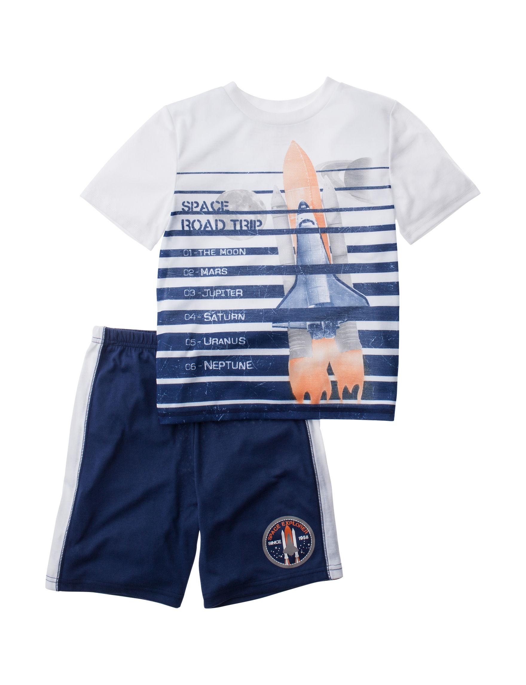 Komar Kids Blue / White Pajama Sets