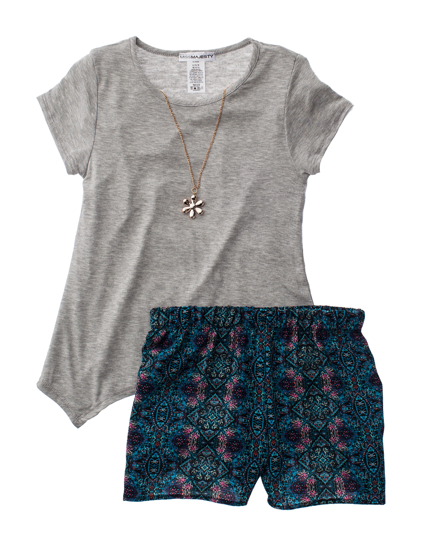 Miss Majesty Grey / Multi Soft Shorts